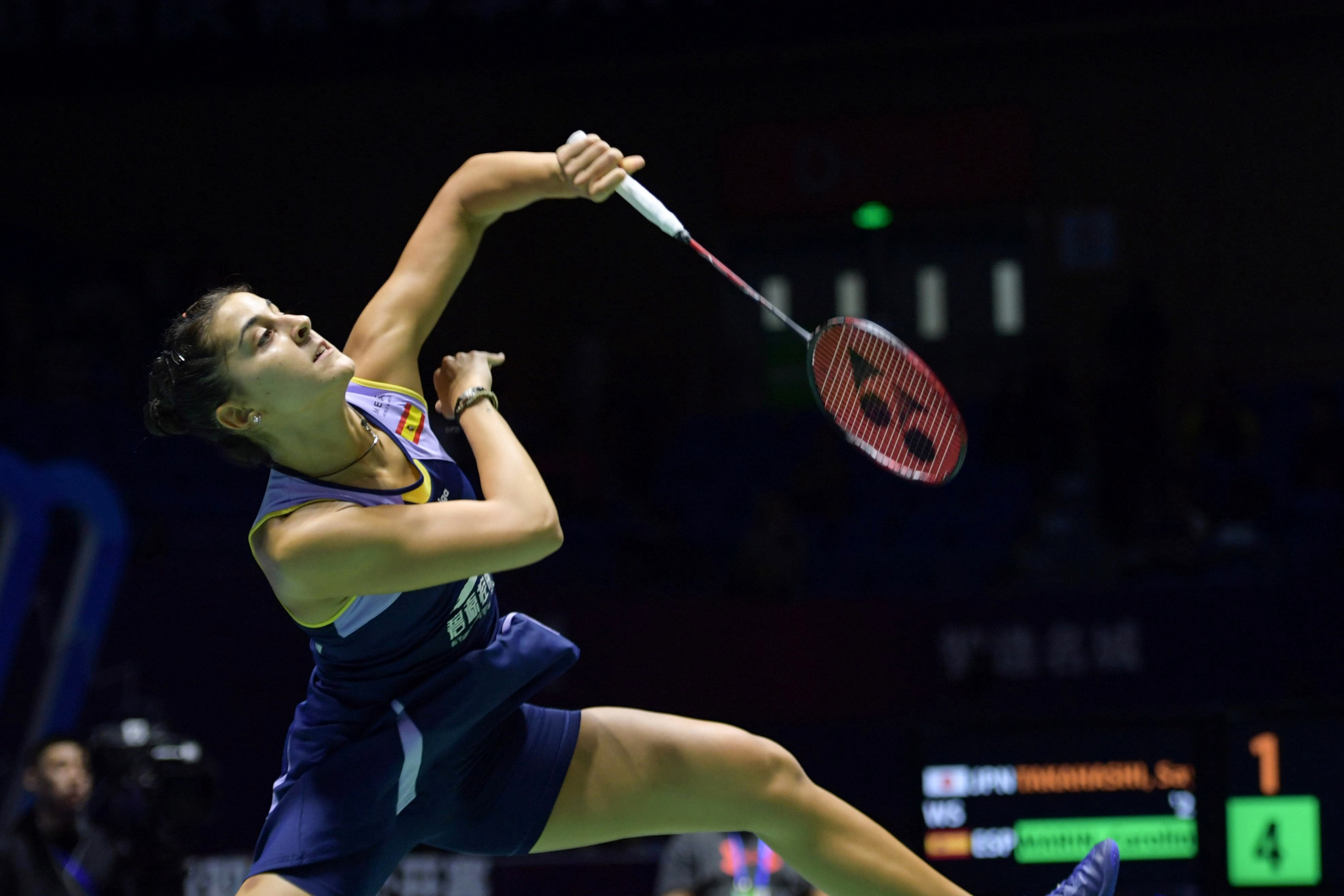 Marín reaches women's singles final on comeback at BWF China Open