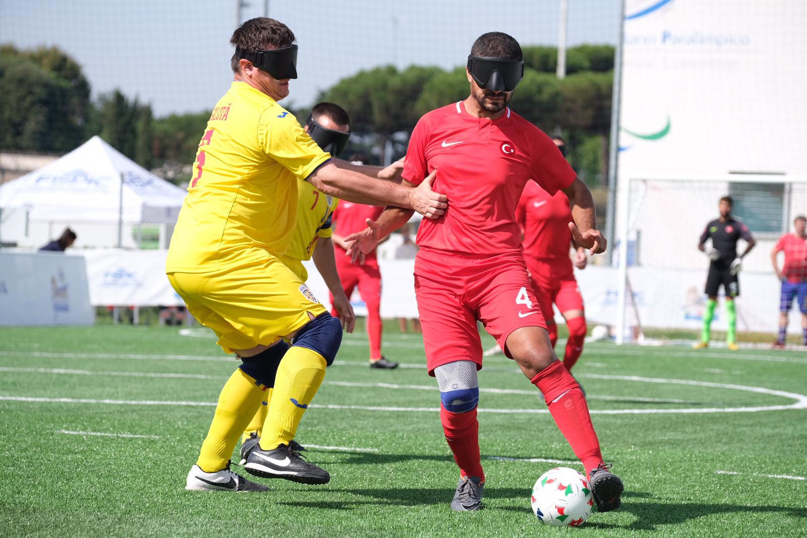France and Turkey in semi-finals at Blind Football European Championships