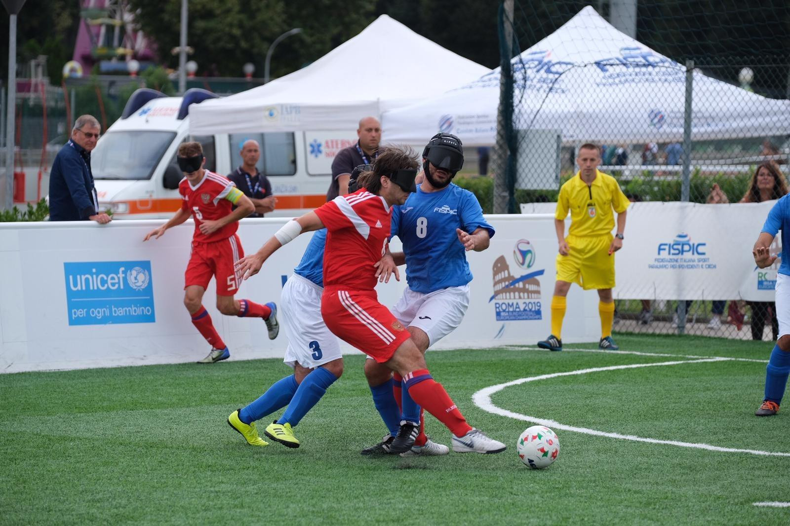 Italy finish sixth at home Blind Football European Championships after heavy loss to Russia