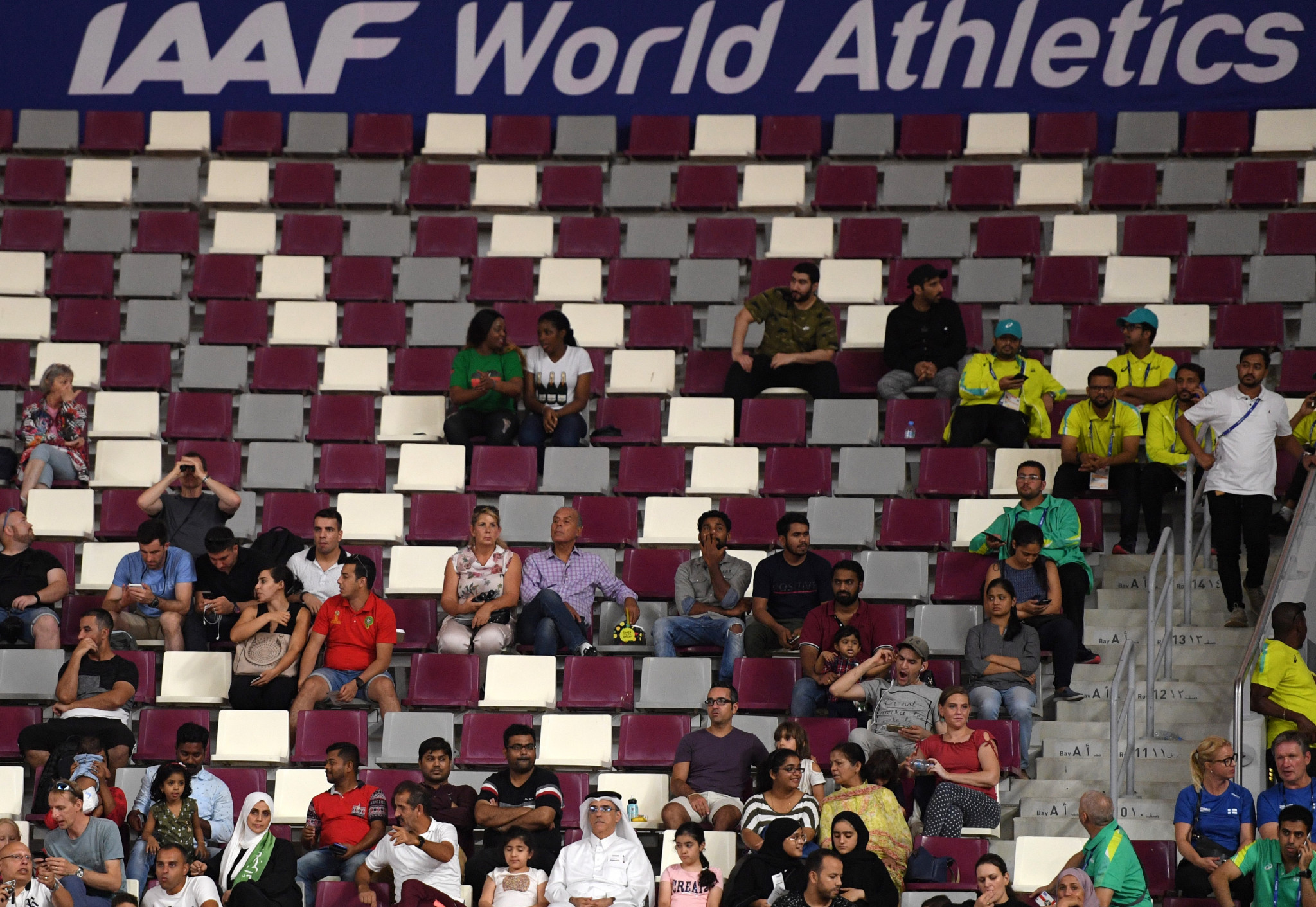 The Khalifa International Stadium has been almost empty for the majority of the IAAF World Championships in Doha ©Getty Images
