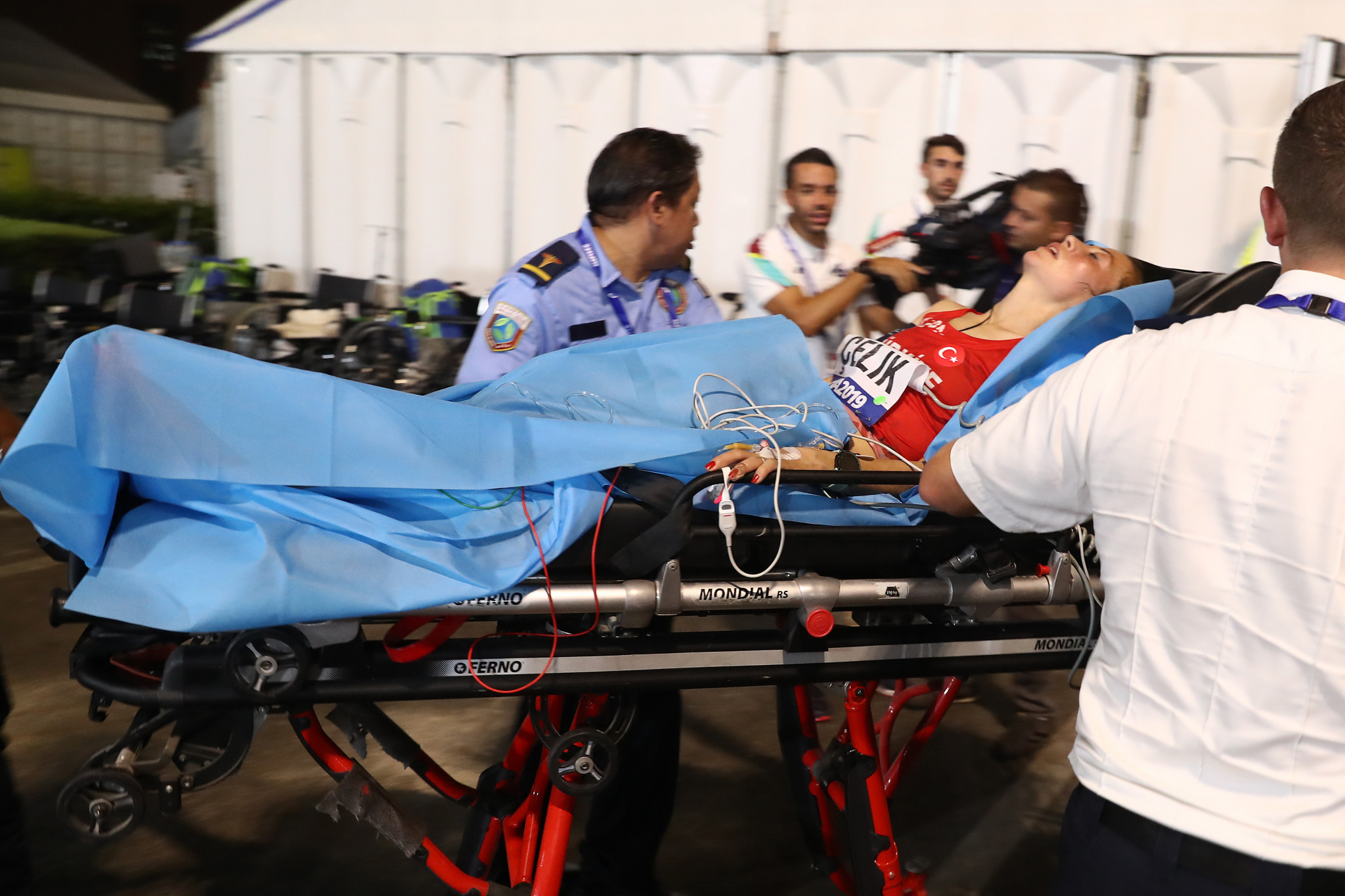 Images of marathon runners being taken away on stretchers after collapsing in races starting after midnight because of the heat has added to the belief these World Championships should never been awarded to Doha ©Getty Images