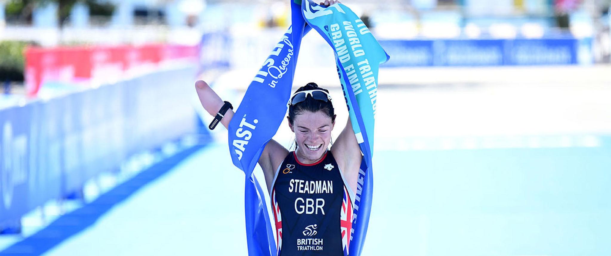 Lauren Steadman has so far won seven World Paratriathlon Championship titles ©British Triathlon