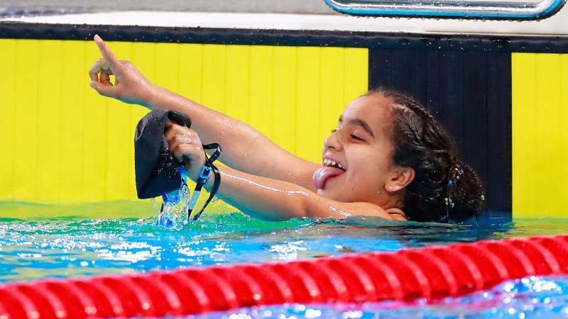 Quadruple gold medallist, 12, named best female Para athlete at Lima 2019
