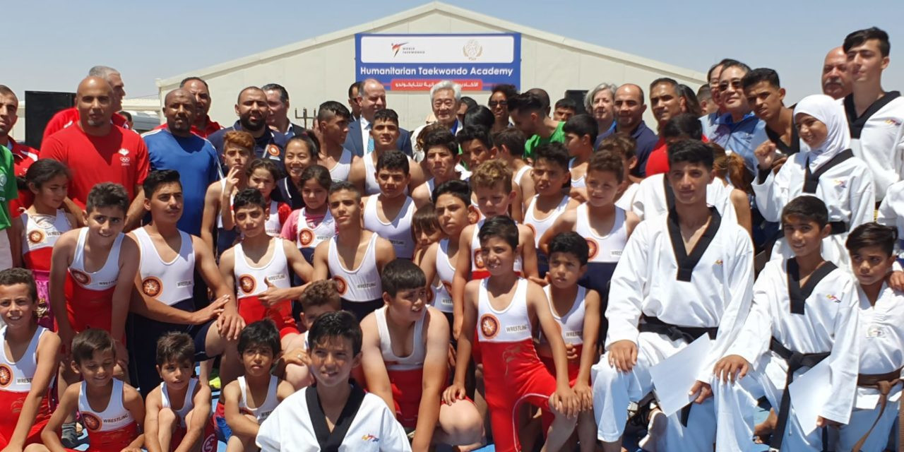 A joint event was held with wrestling as the THF's doors were flung open to other sports ©THF