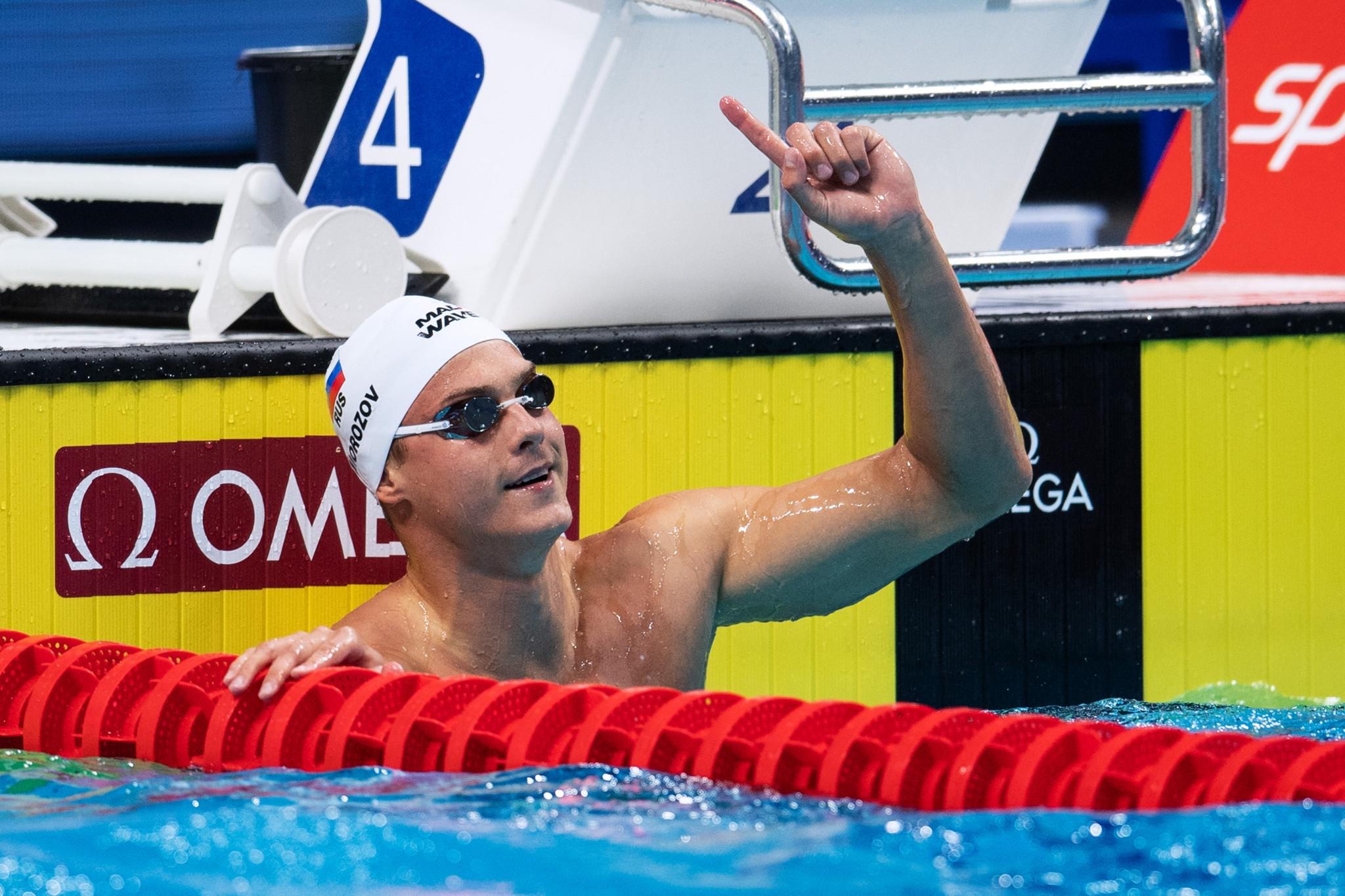 Morozov claims 100th FINA Swimming World Cup gold