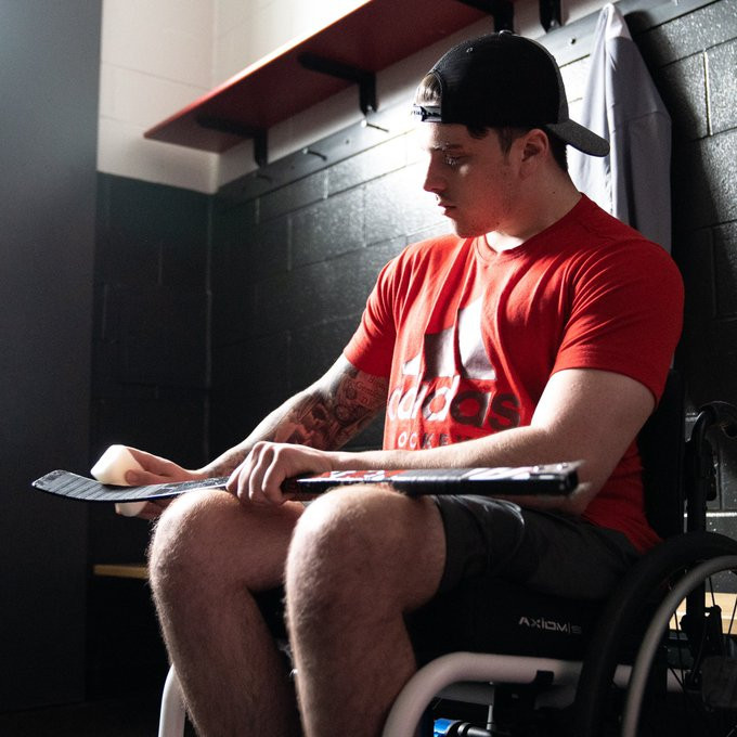 Canadian Para-ice hockey player who survived crash features in adidas advert