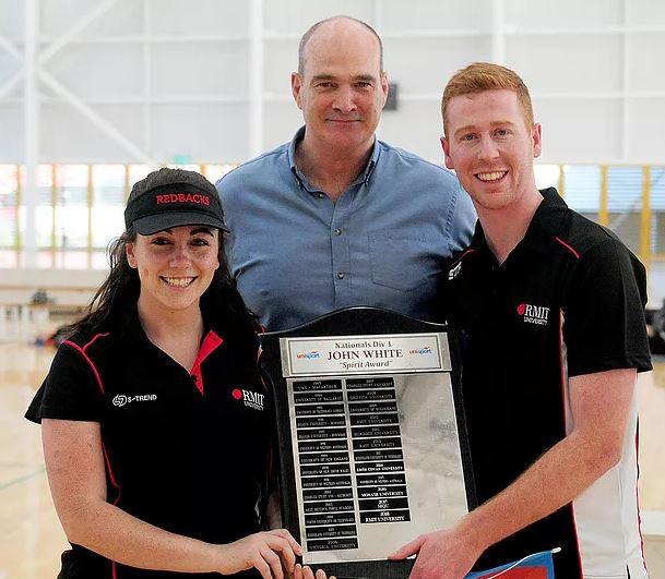 Royal Melbourne Institute of Technology University was awarded the John White Spirit Trophy at the 2019 UniSport Div 1 Nationals ©UniSport Australia