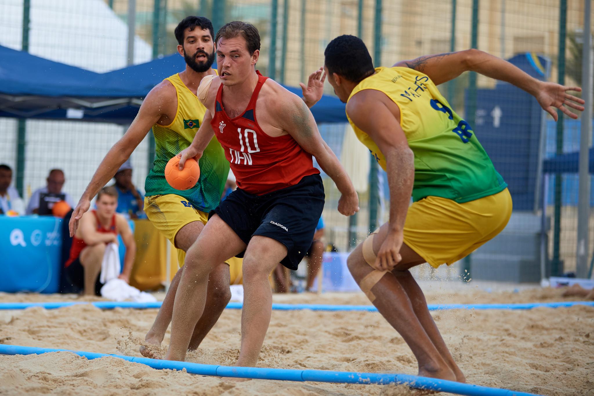 Denmark defeat beach handball world champions at ANOC World Beach Games