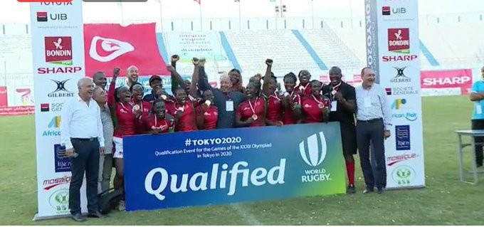 Kenya qualified for the women's sevens event at Tokyo 2020 ©Rugby Africa