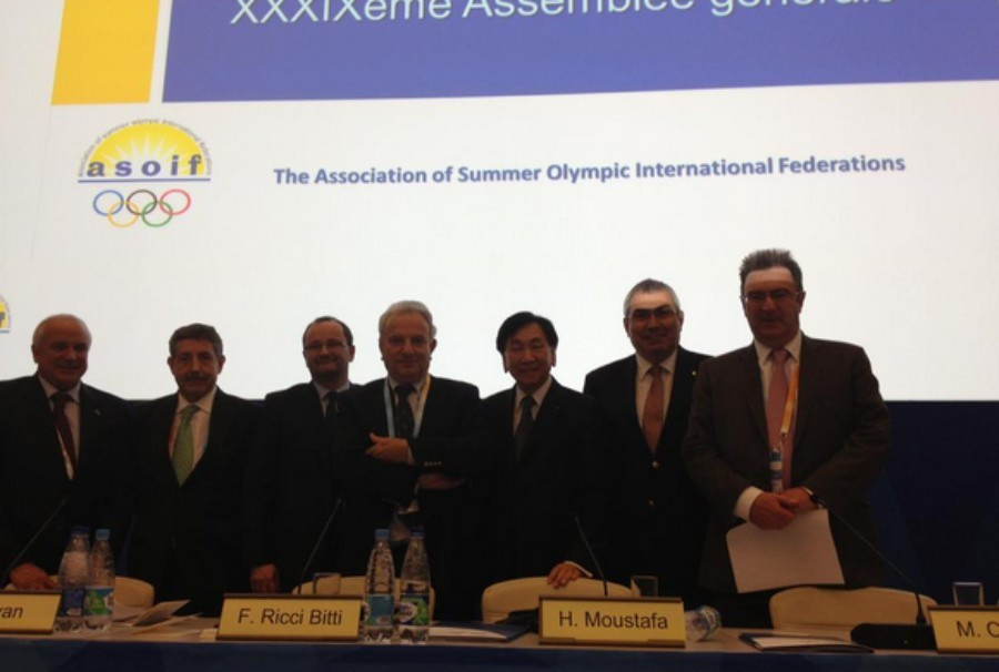 The ruling ASOIF Council pictured following their most recent meeting in Sochi ©ASOIF