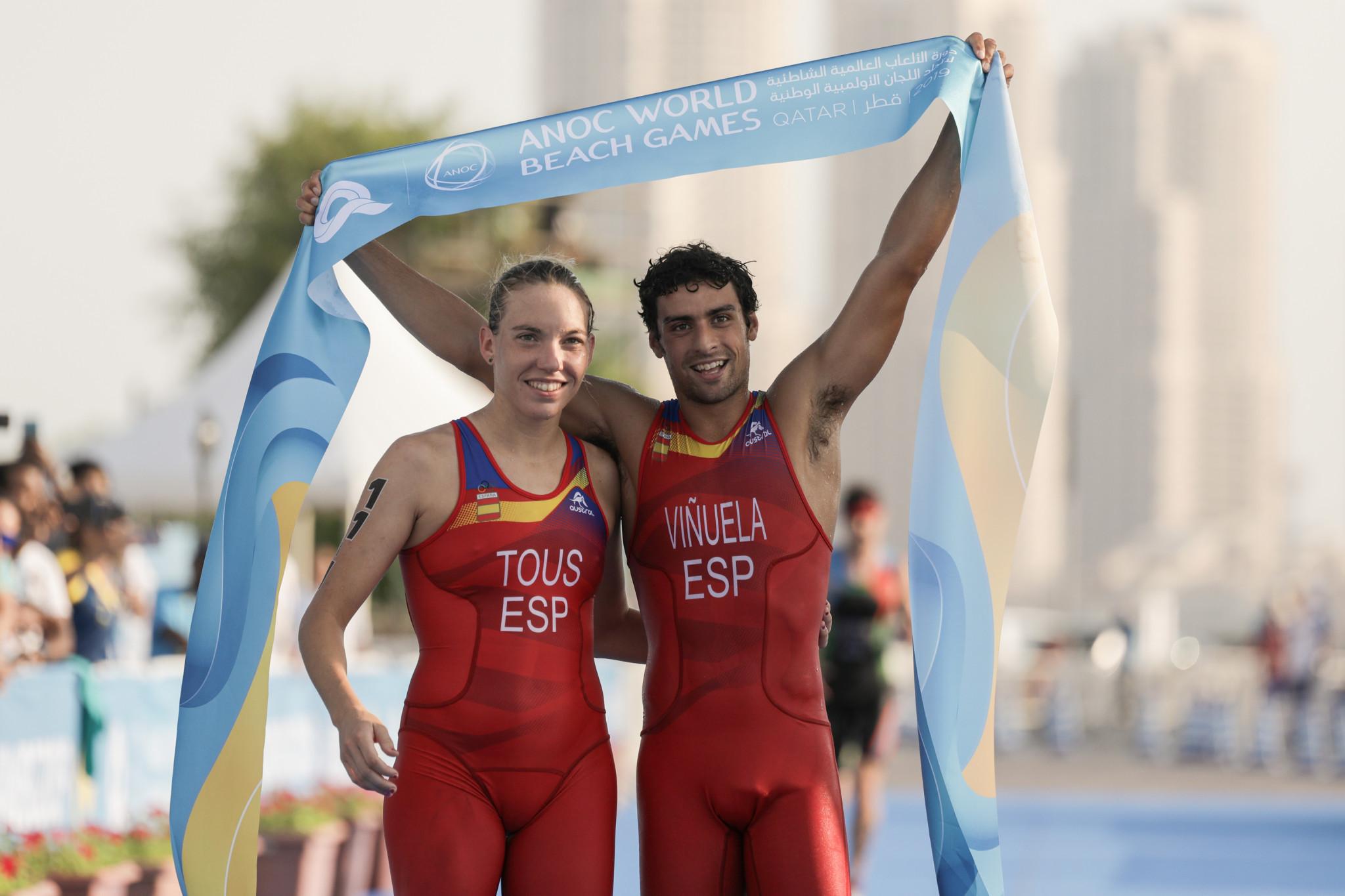 Spain add aquathlon team title to individual glory at ANOC World Beach Games