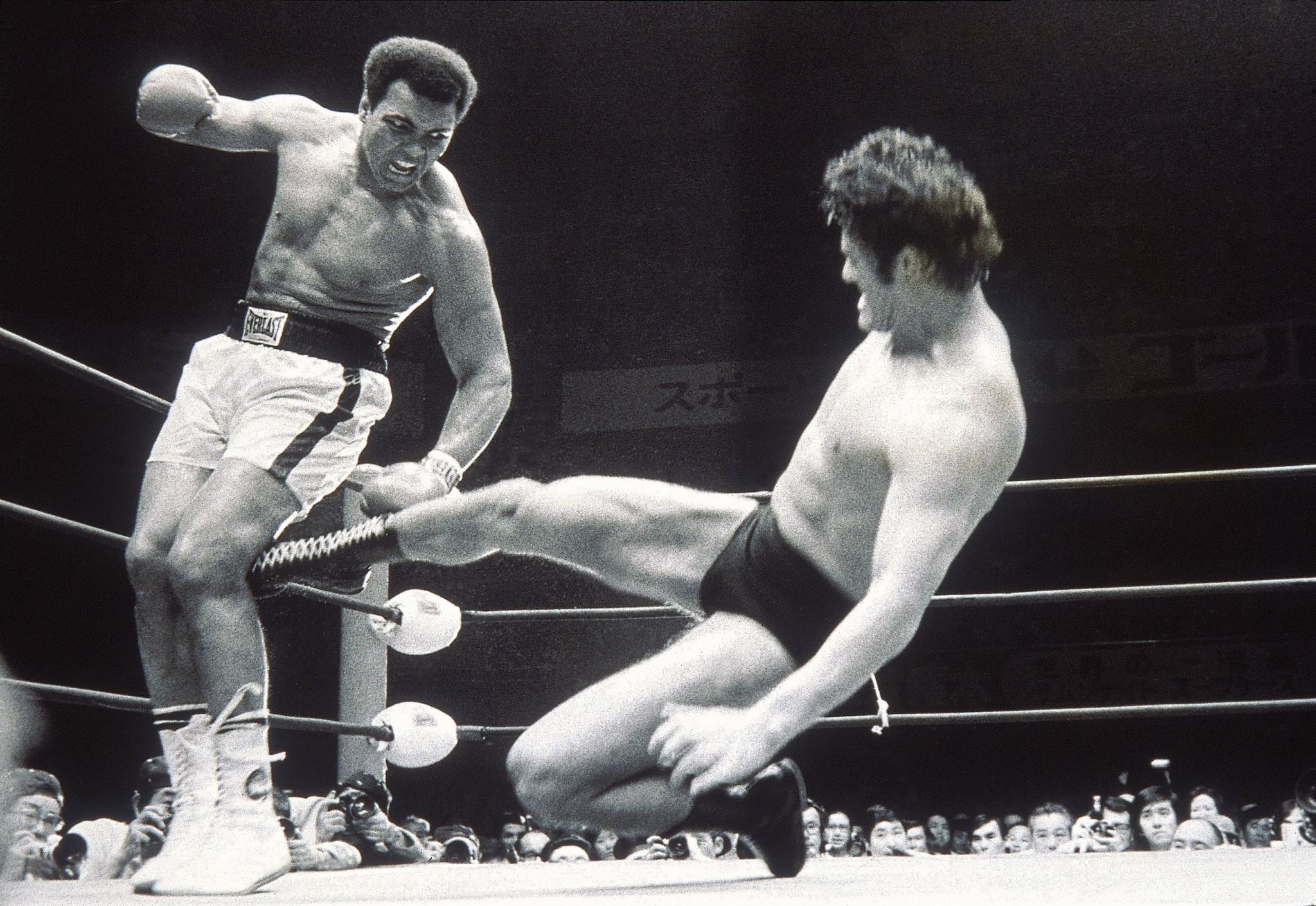 "Muhammad Ali ""fought"" wrestler Antonio Inoki - it didn't end well ©Getty Images"