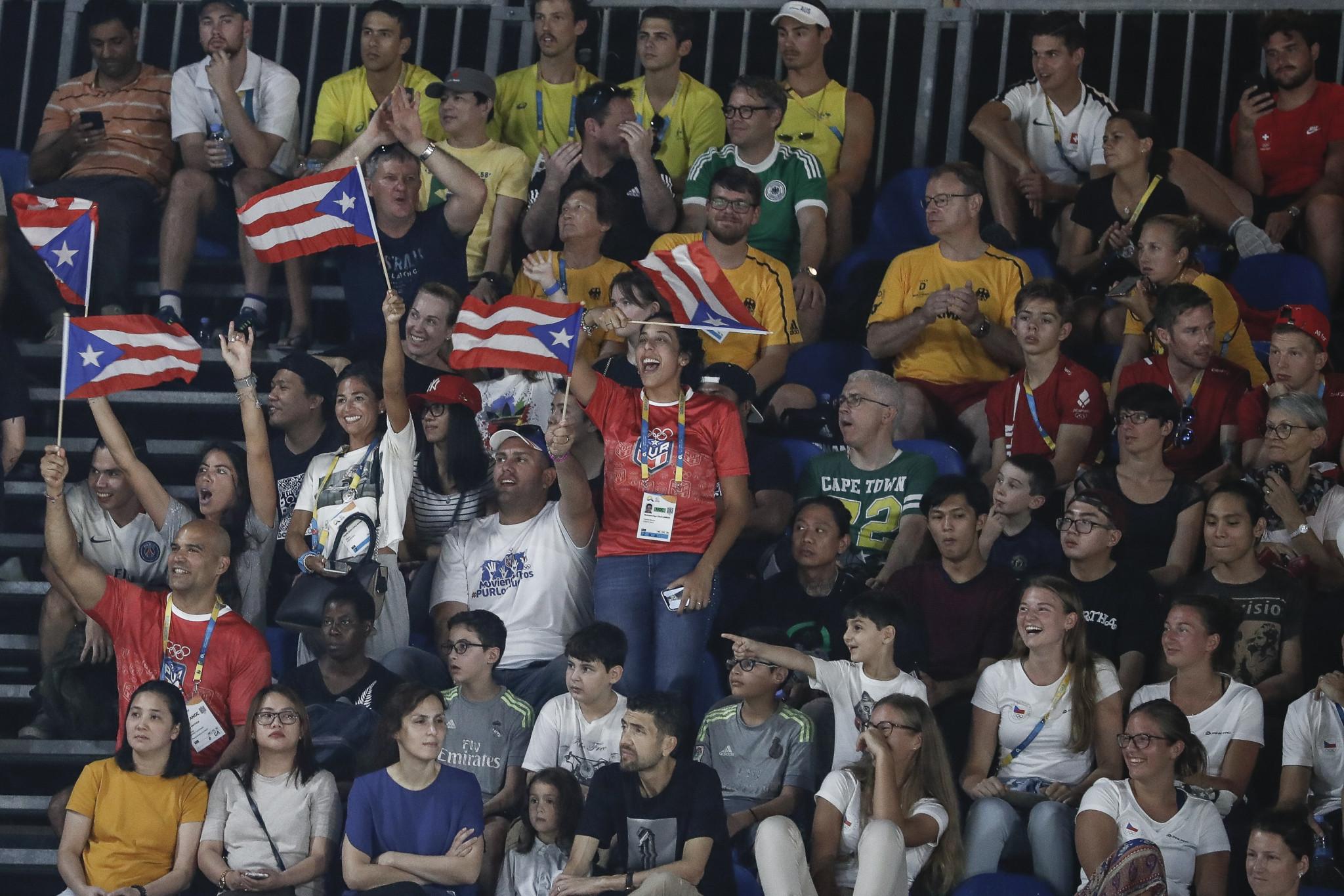 Puerto Rico celebrated Steven Pineiro's silver medal ©ANOC World Beach Games