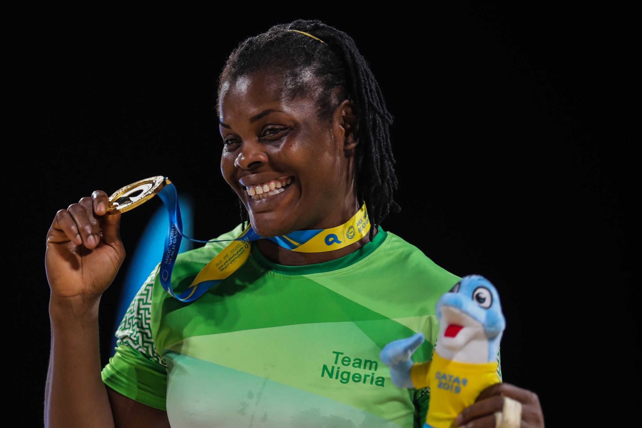 Blessing Joy for Nigeria as claim first gold medal at ANOC World Beach Games
