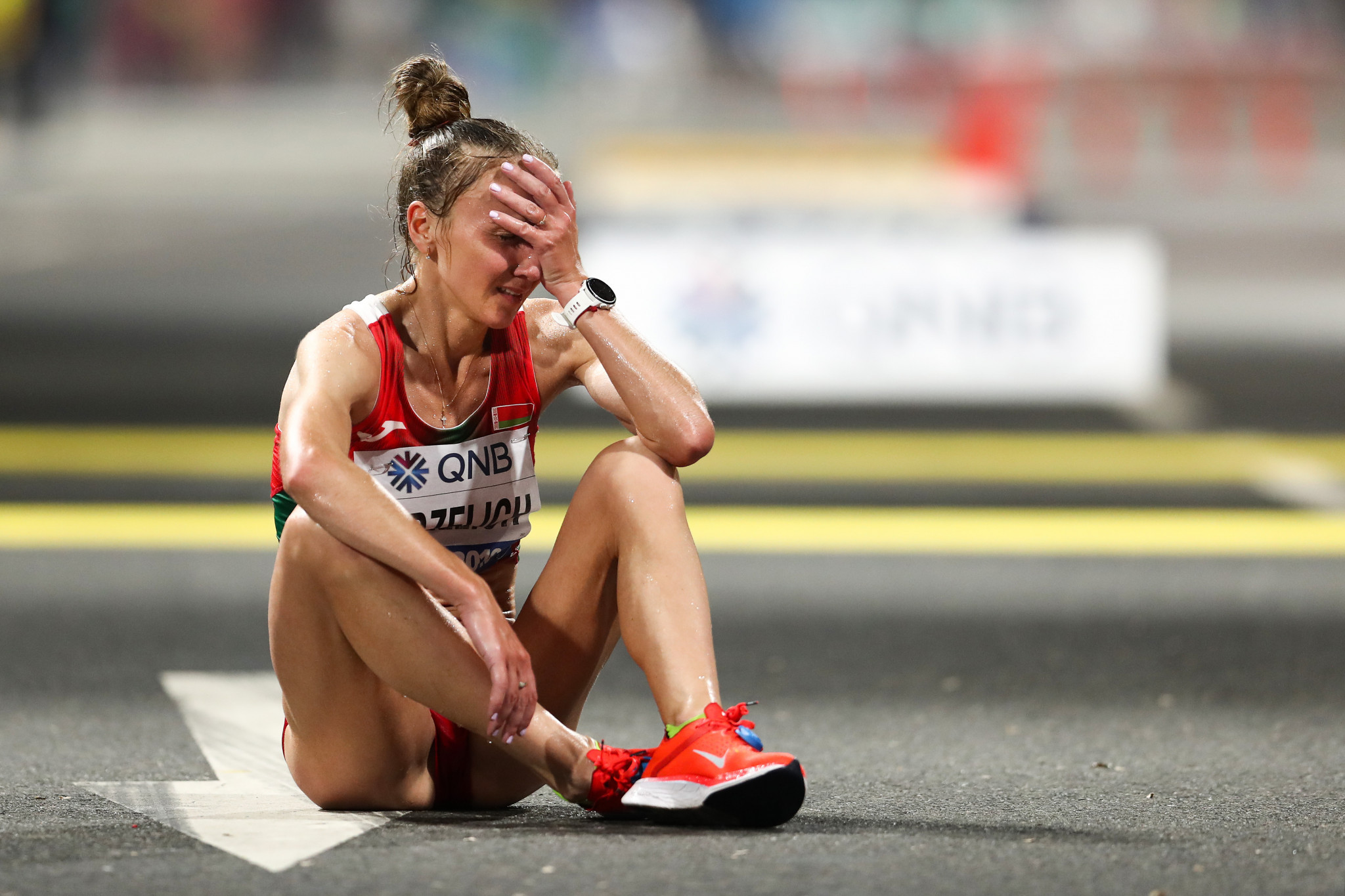 Scenes of runners in distress during the marathon at the IAAF World Championships because of the brutal conditions appear to have helped persuade the IOC of the need to move the events to Sapporo during Tokyo 2020 ©Getty Images