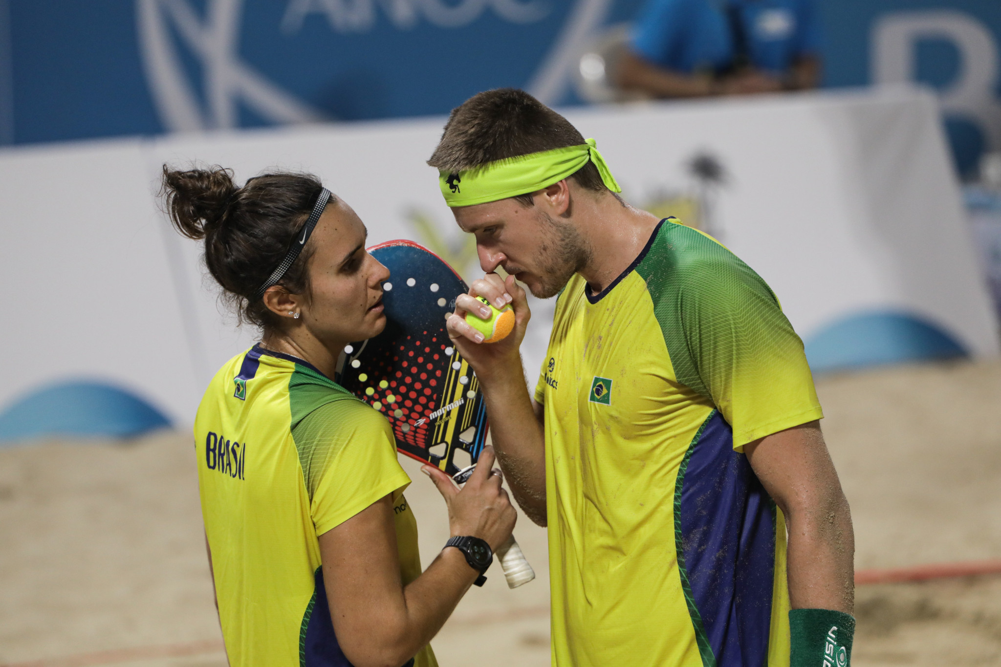 Brazilian pair turn silver into gold in beach tennis mixed doubles at ANOC World Beach Games