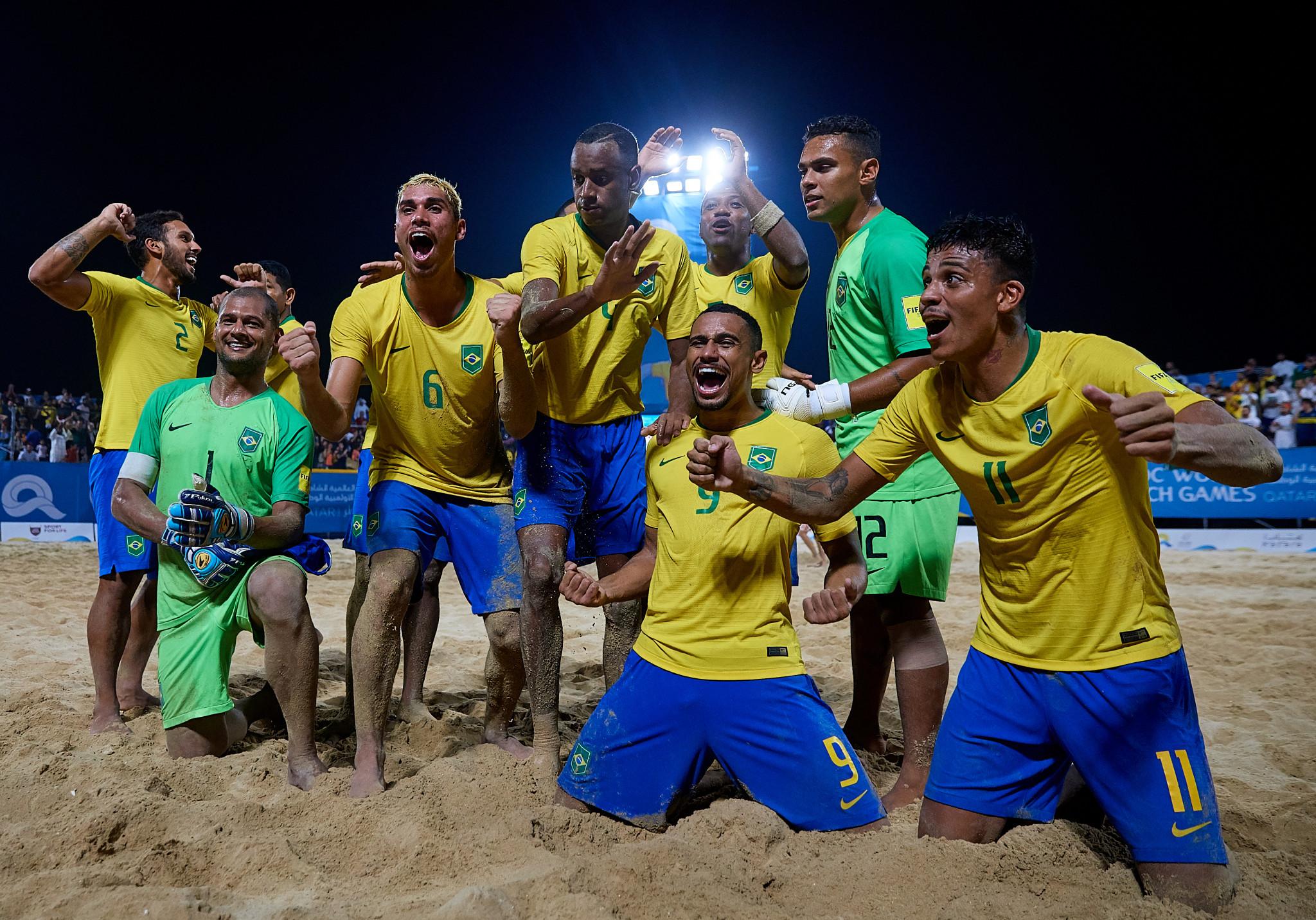 Brazil live up to samba reputation to claim ANOC World Beach Games soccer gold