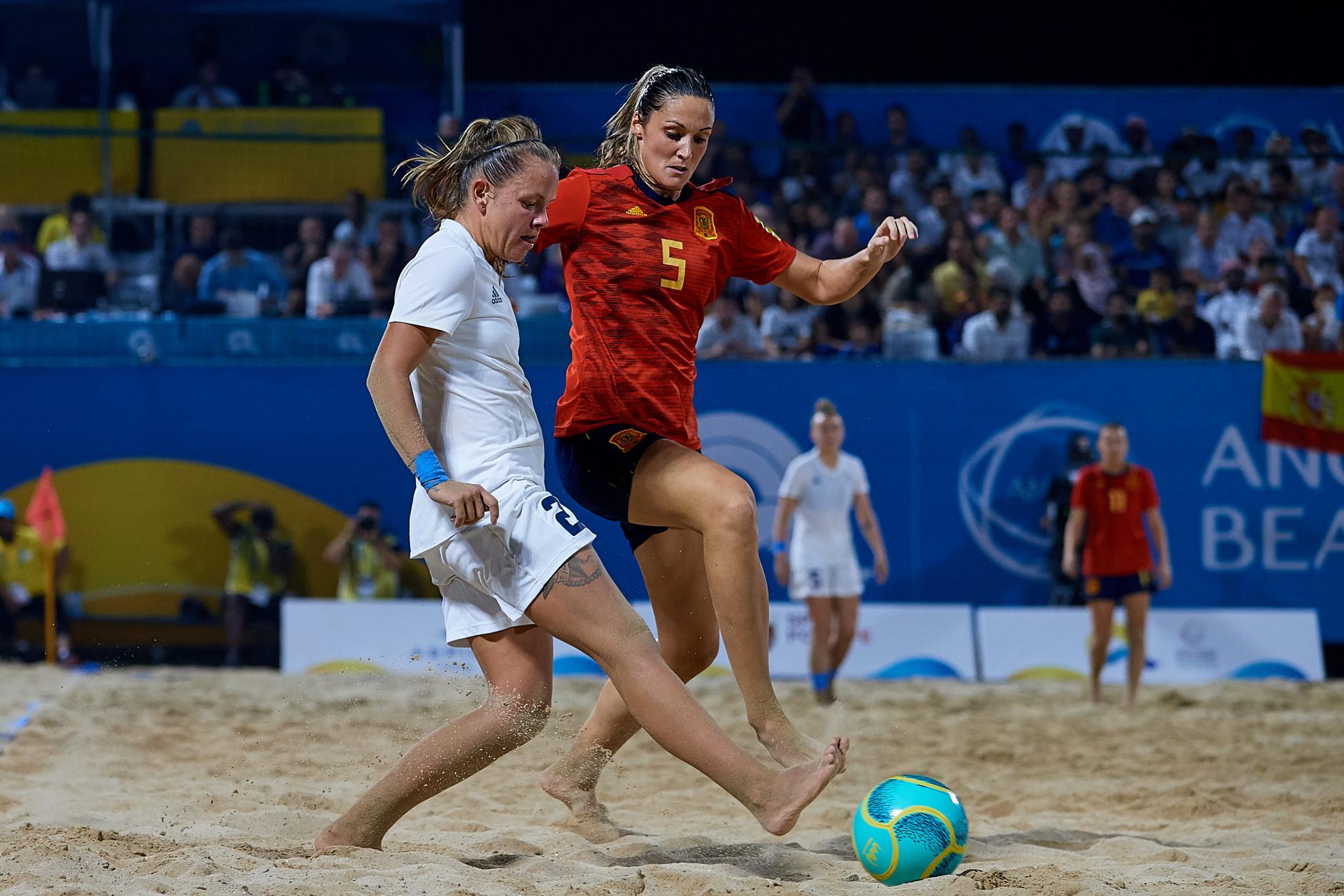 Spain's Lorena del Carmen Asensio scored twice as her country beat Britain 3-2 ©ANOC World Beach Games