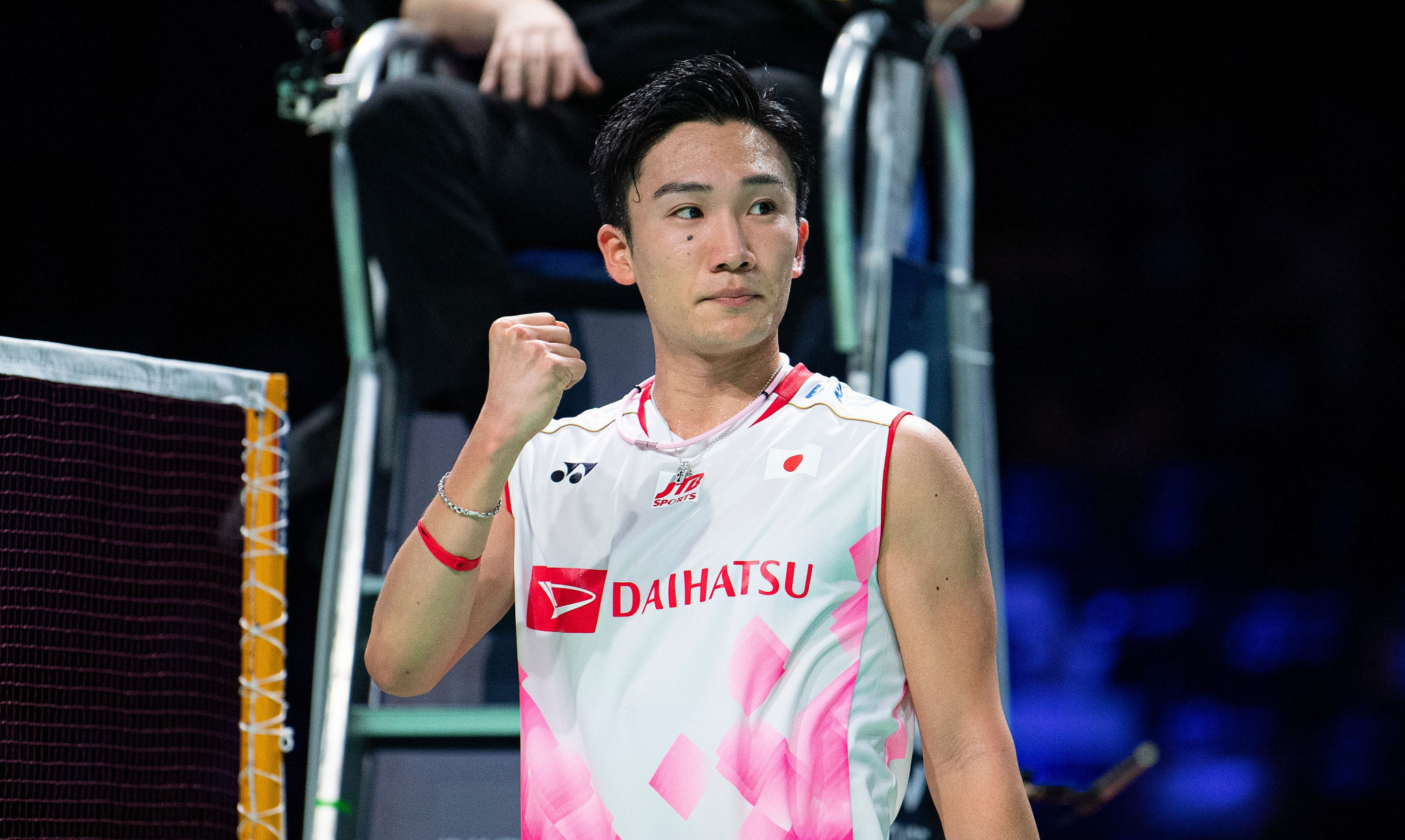 Momota battles into second round at BWF French Open