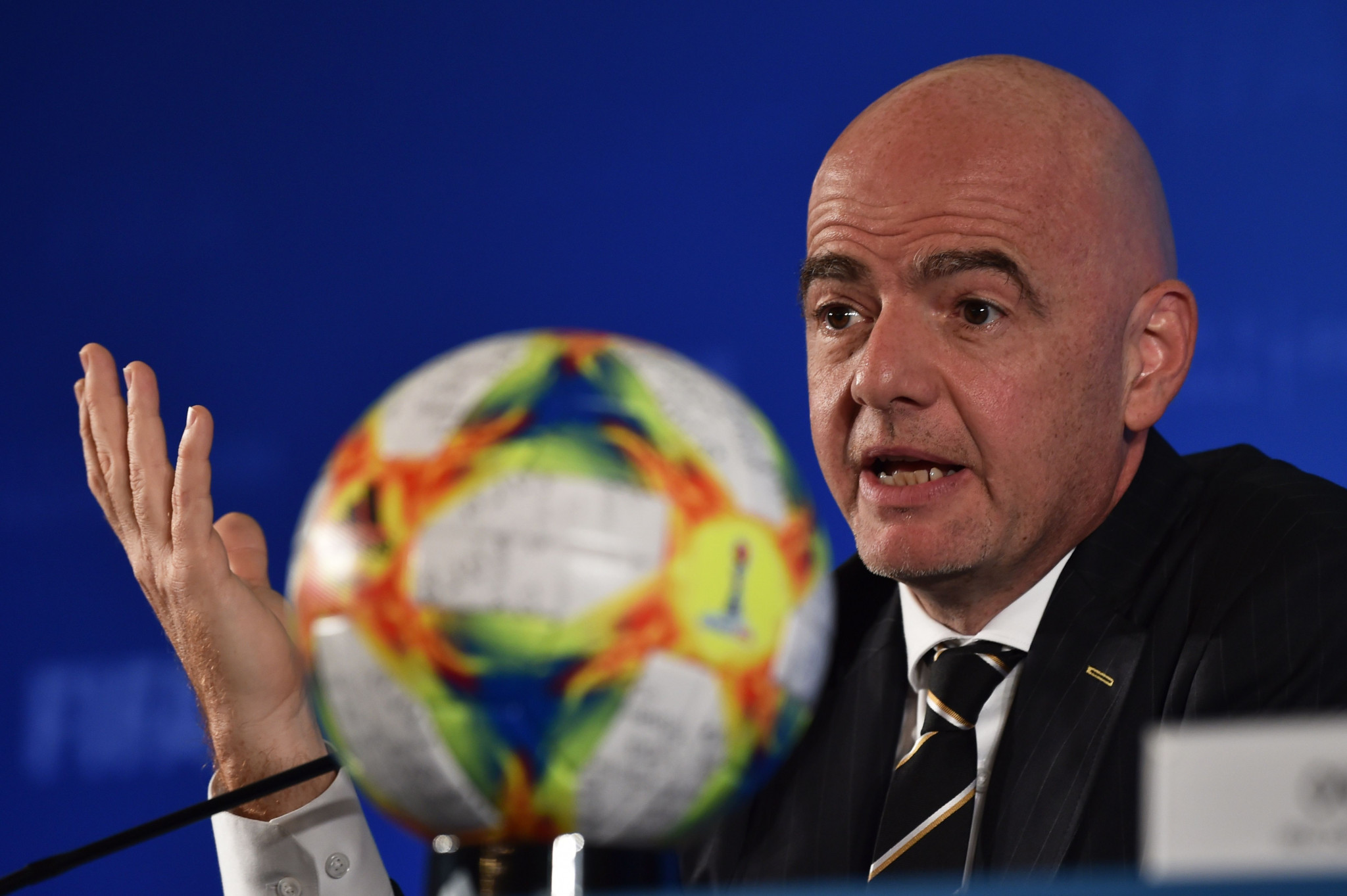 FIFA President Gianni Infantino confirmed China had been unanimously awarded the 2021 Club World Cup