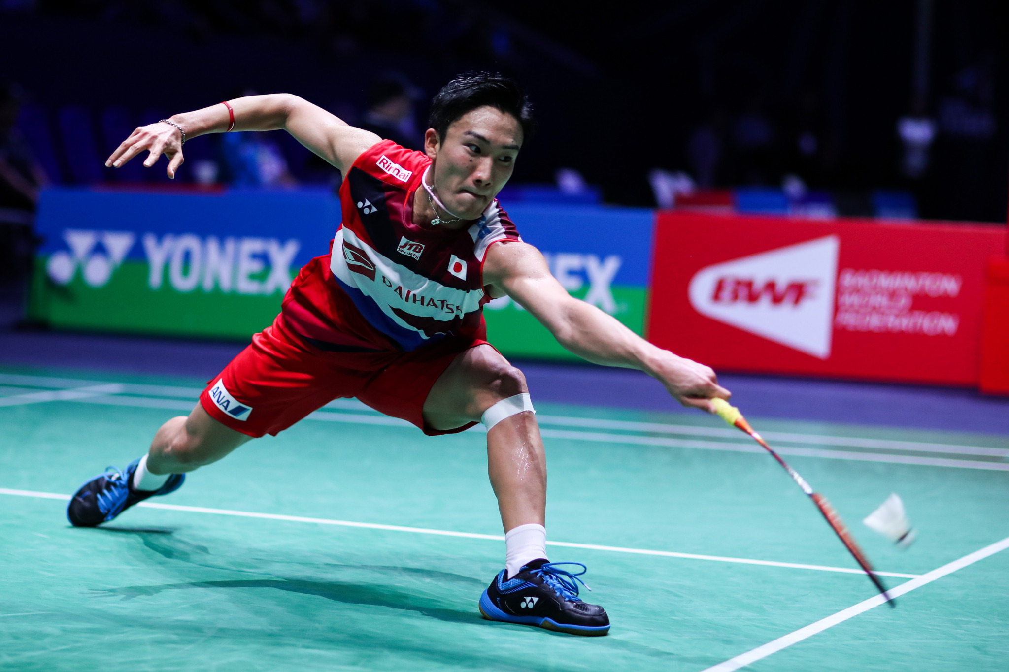 Kento Momota suffered defeat in his quarter-final match ©Getty Images
