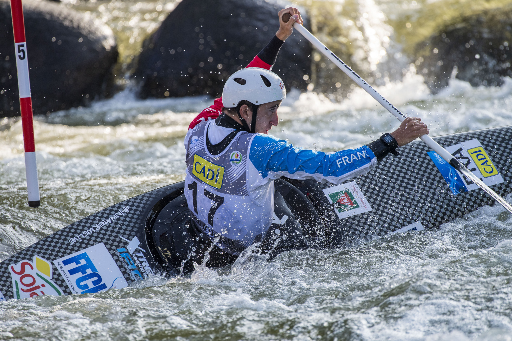 Rainstorms put damper on opening day of Tokyo 2020 canoe slalom test event