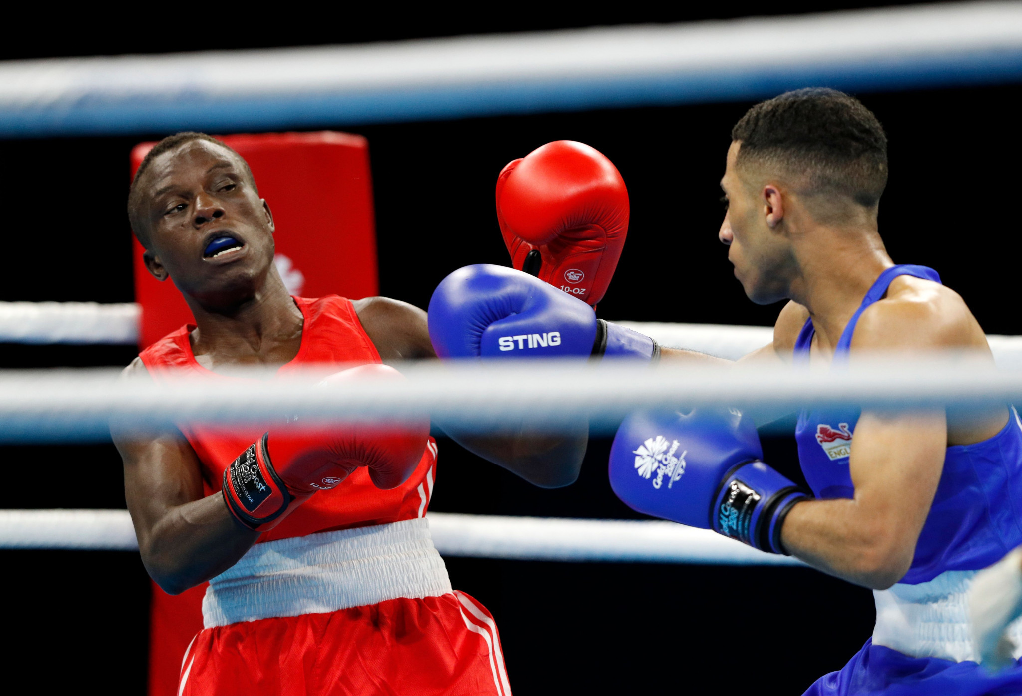 Boxer Simplice Fotsala, in red, is among the Cameroon athletes who fled after Gold Coast 2018 ©Getty Images