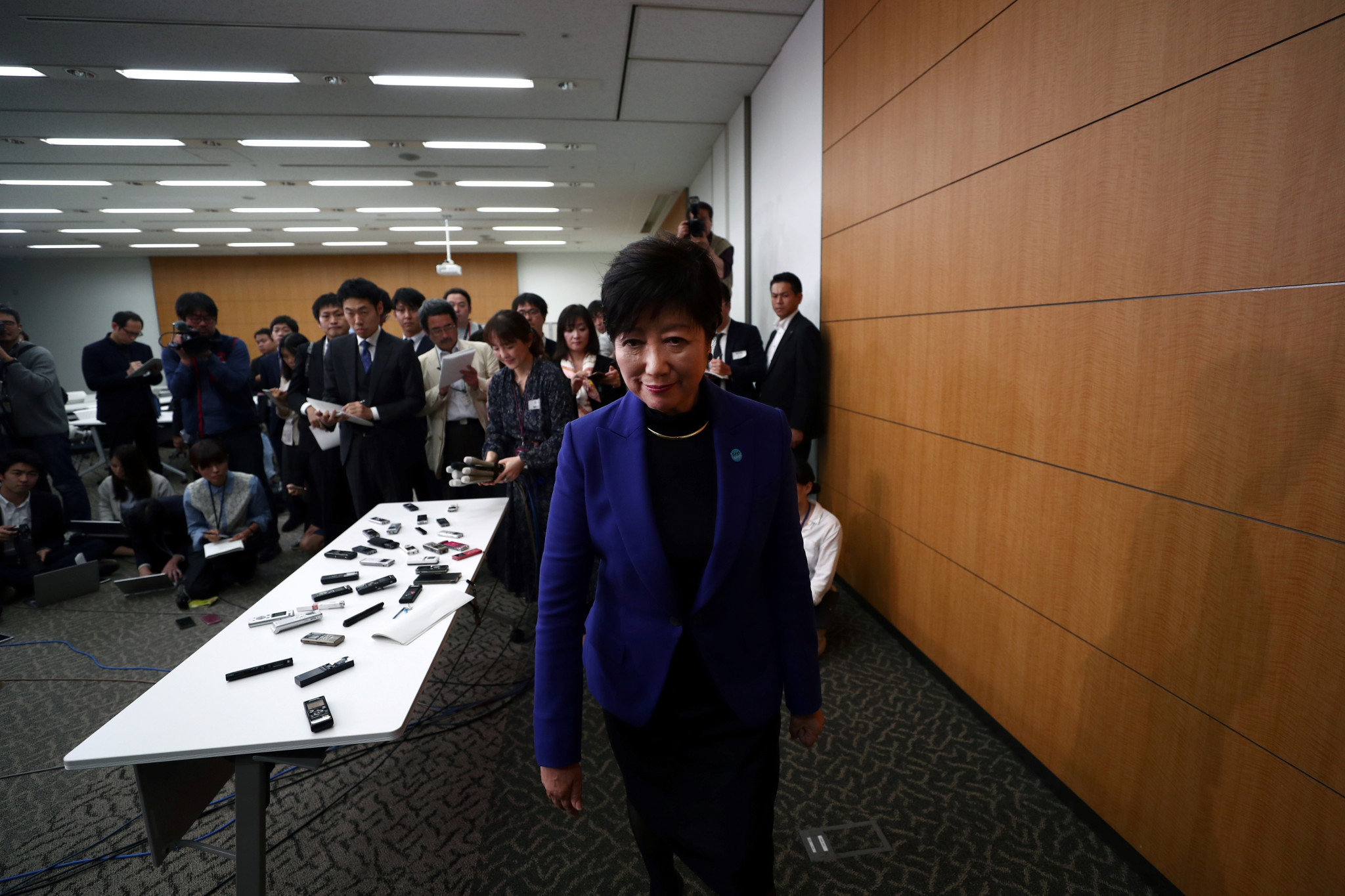 Tokyo Governor Yuriko Koike criticised the IOC for their lack of consultation over moving the events to Sapporo ©Getty Images