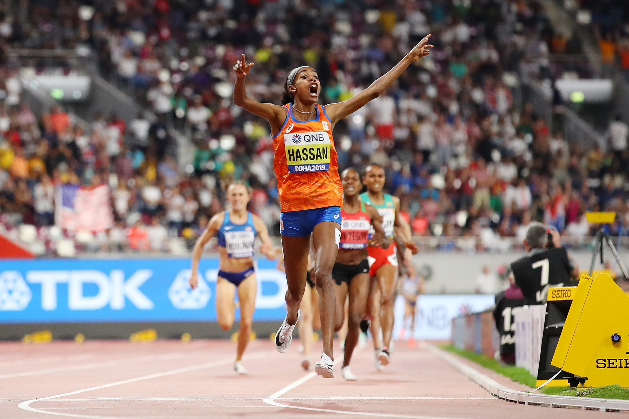 The Netherlands' Sifan Hassan, coached by Alberto Salazar since 2016, completed a unique 1500m and 10,000m double at the IAAF World Championships in Doha last month ©Getty Images