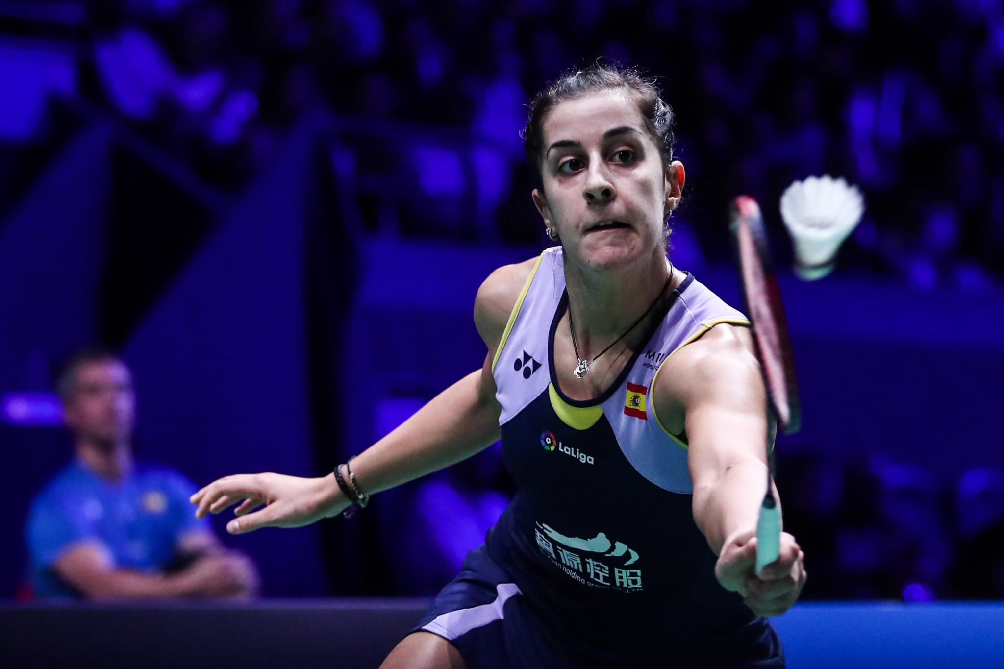 Olympic champion Carolina Marin withdrew through illness ©Getty Images