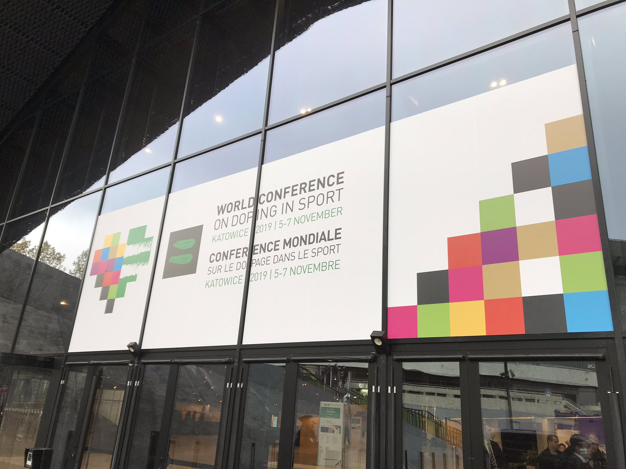The event is taking place at Katowice's International Congress Centre ©Twitter