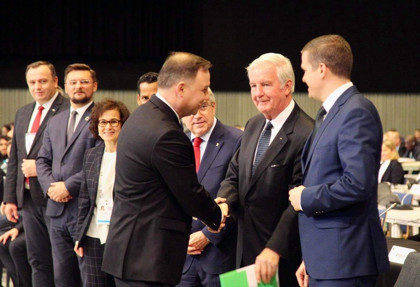 Afterwards Duda met with senior officials, including WADA President Sir Craig Reedie ©Polish Ministry of Sport and Tourism