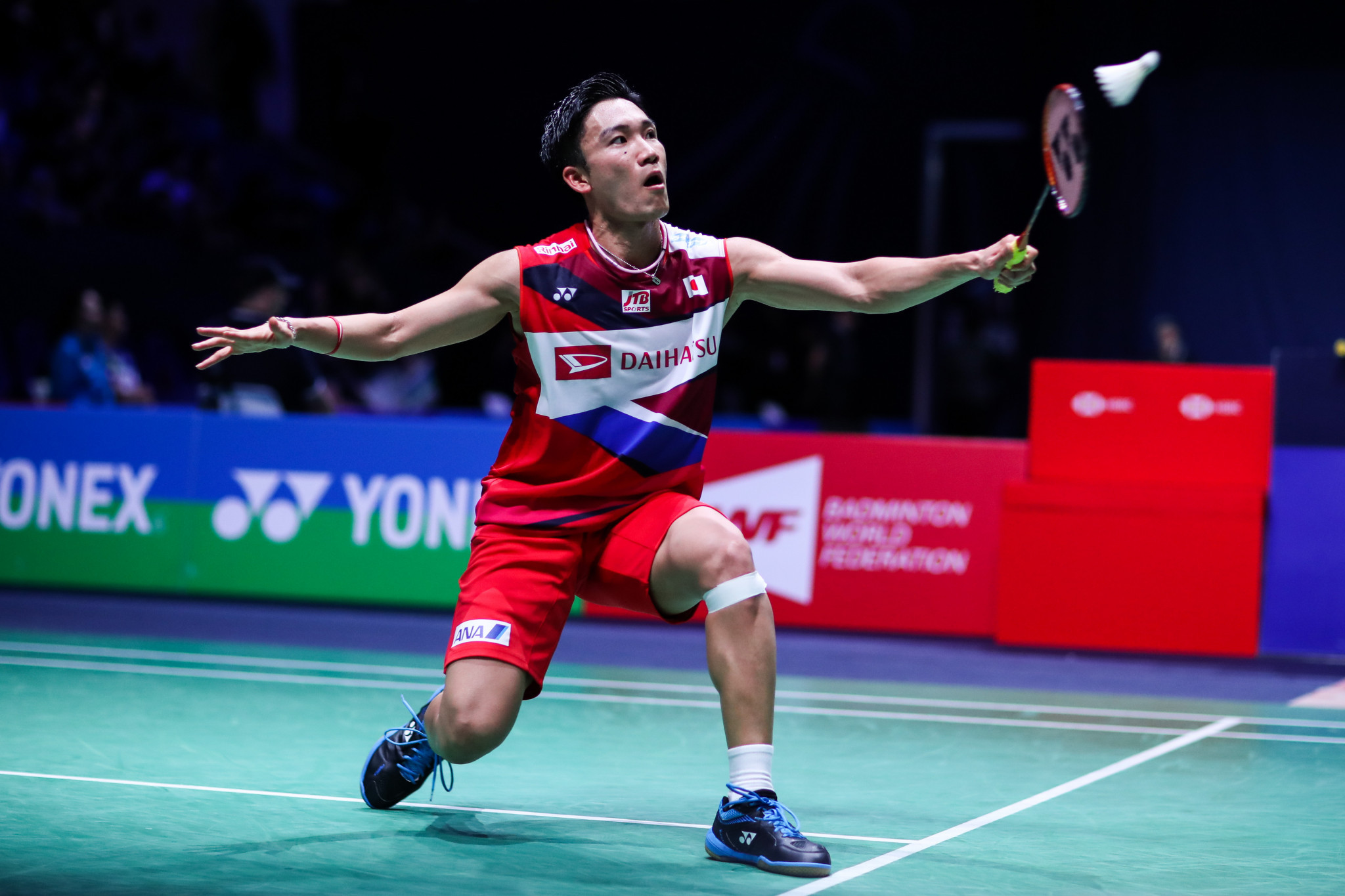 Kento Momota has contracted COVID-19, putting his international return on hold ©Getty Images