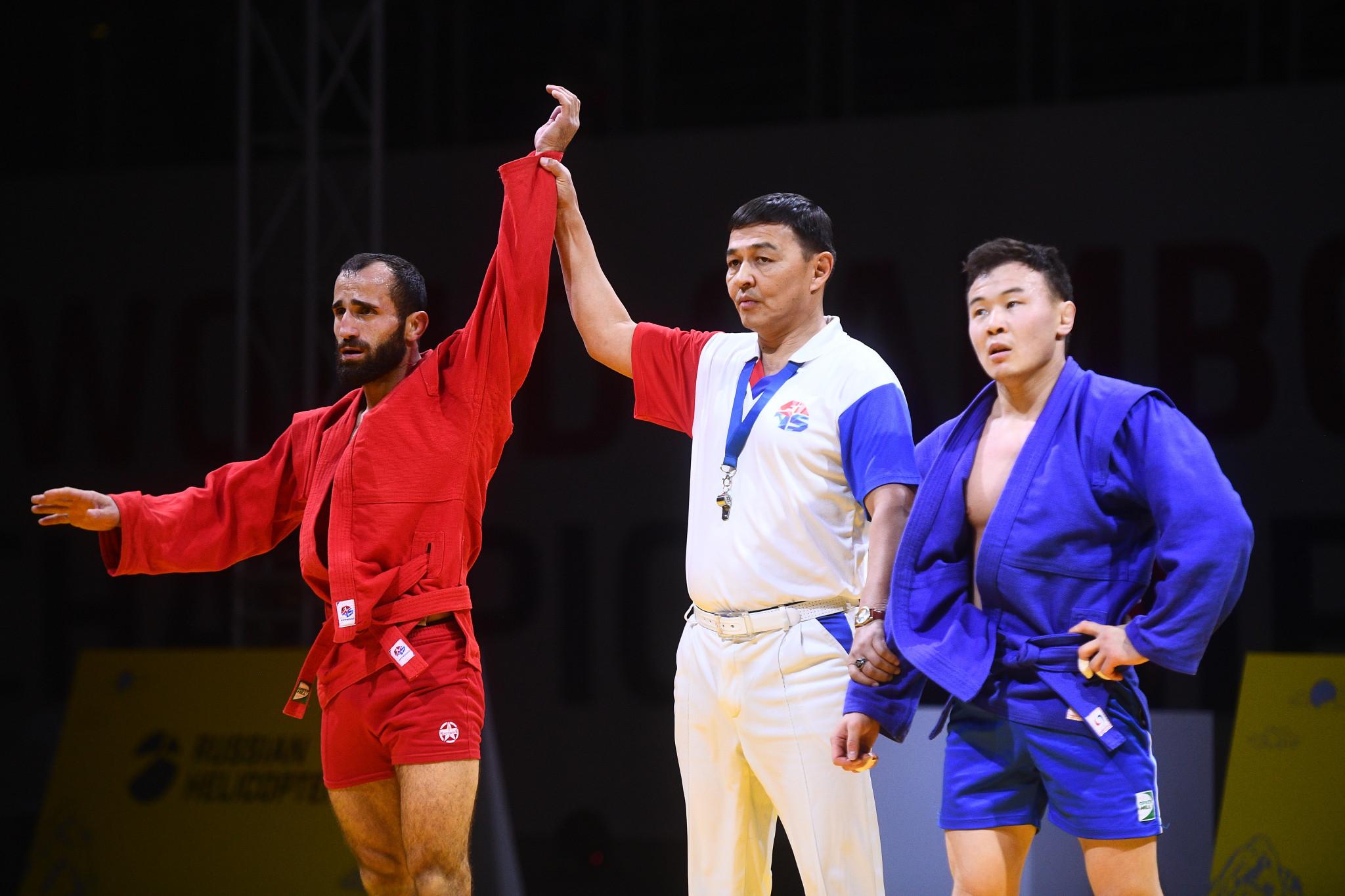 Chidrashvili claims Georgian gold as Russian medal haul grows at World Sambo Championships