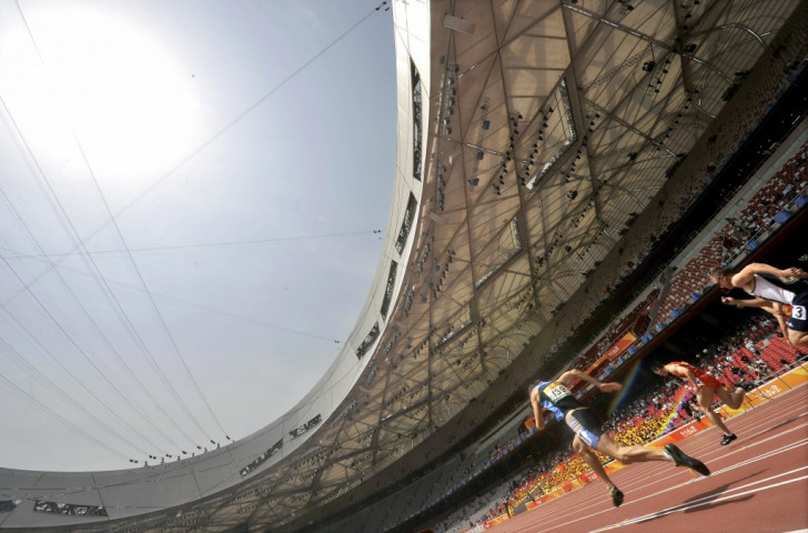 Athletes competing in the China Athletics Open at the Birds Nest stadium shortly before the Beijing Olympics. The shape of athletics at future European Games is being considered now ©Getty Images