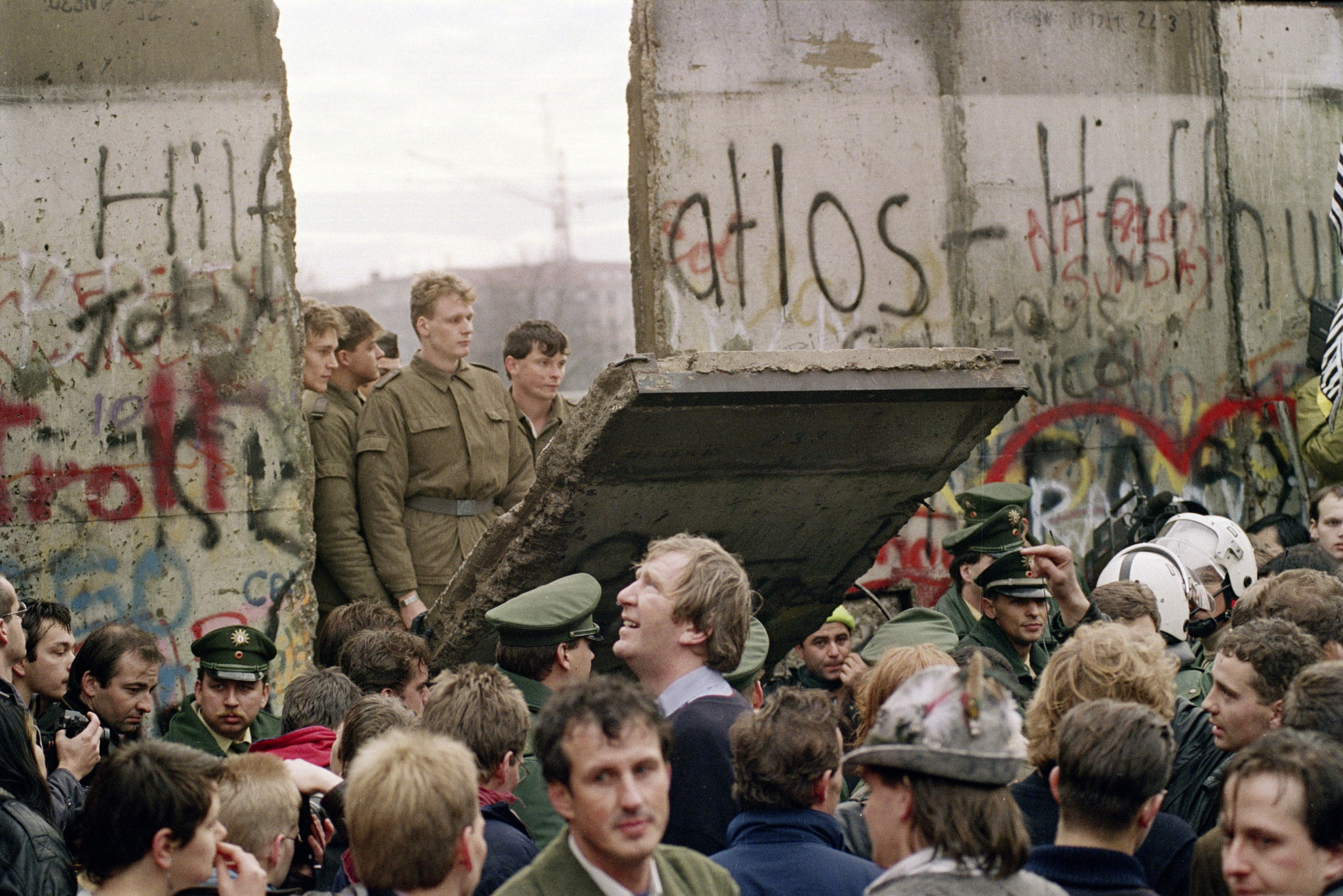 The collapse of the Berlin Wall 30 years ago led to a seismic change across the world ©Getty Images