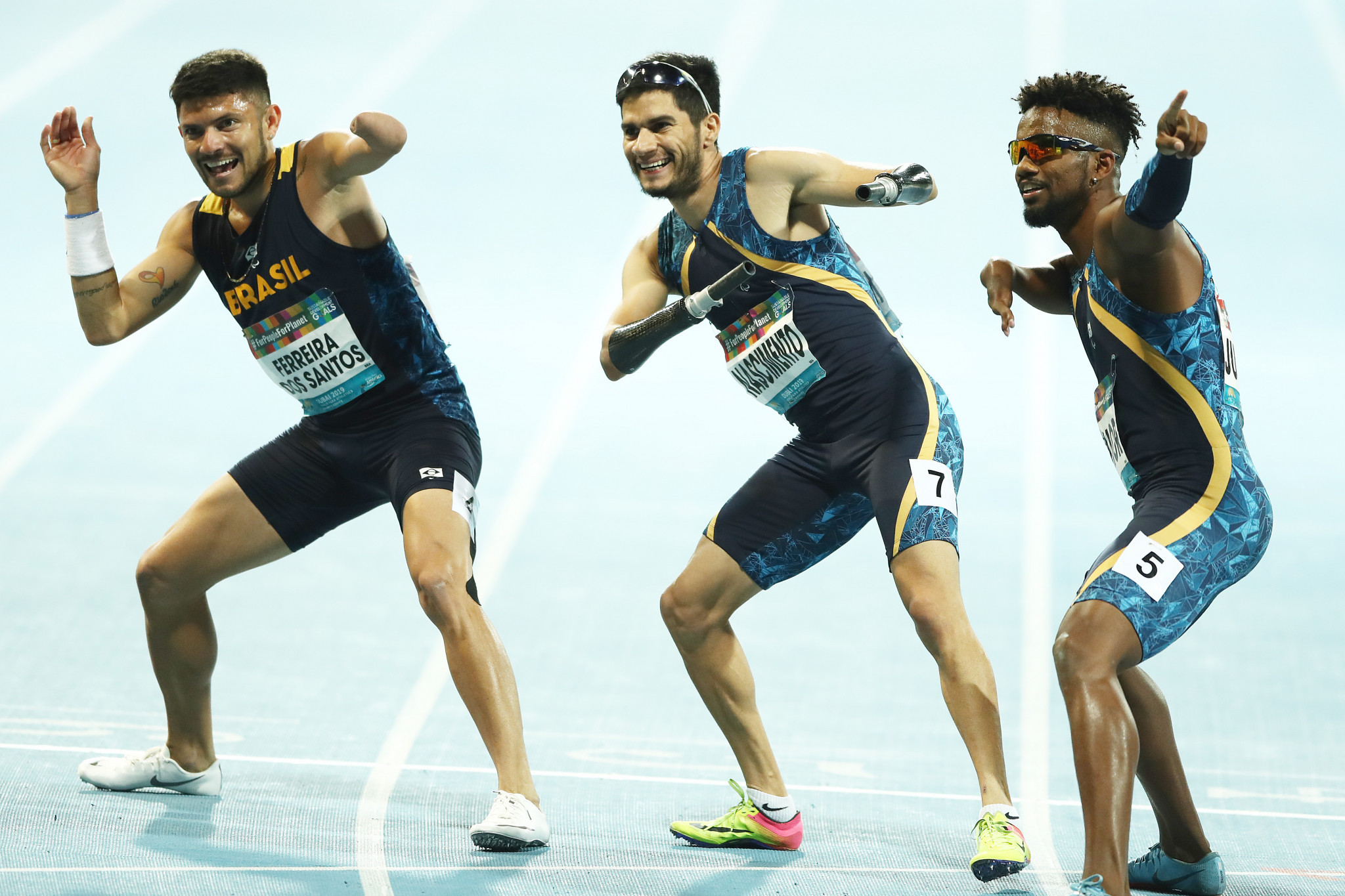 Brazilians create history with clean sweep in men's 100m T47 at World Para Athletics Championships