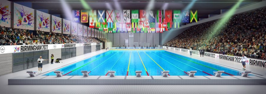 Local firm Wates Construction has been given the responsibility to build the Sandwell Aquatics Centre that will serve the Birmingham 2022 Commonwealth Games ©PanStadiaArena