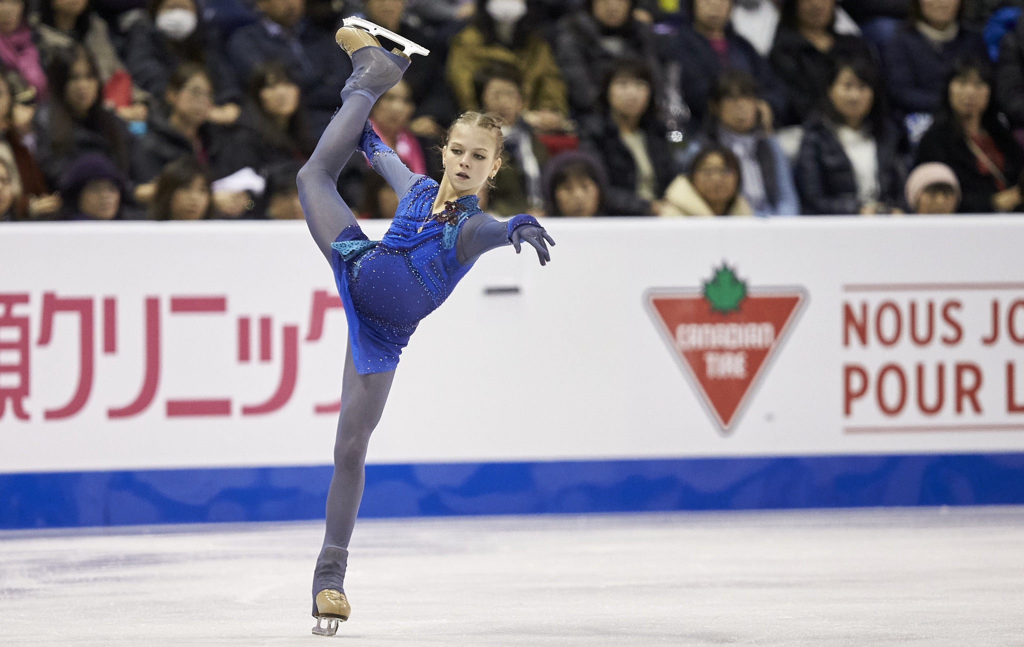 Alexandra Trusova is a main hope for Russia in the women's event ©Getty Images