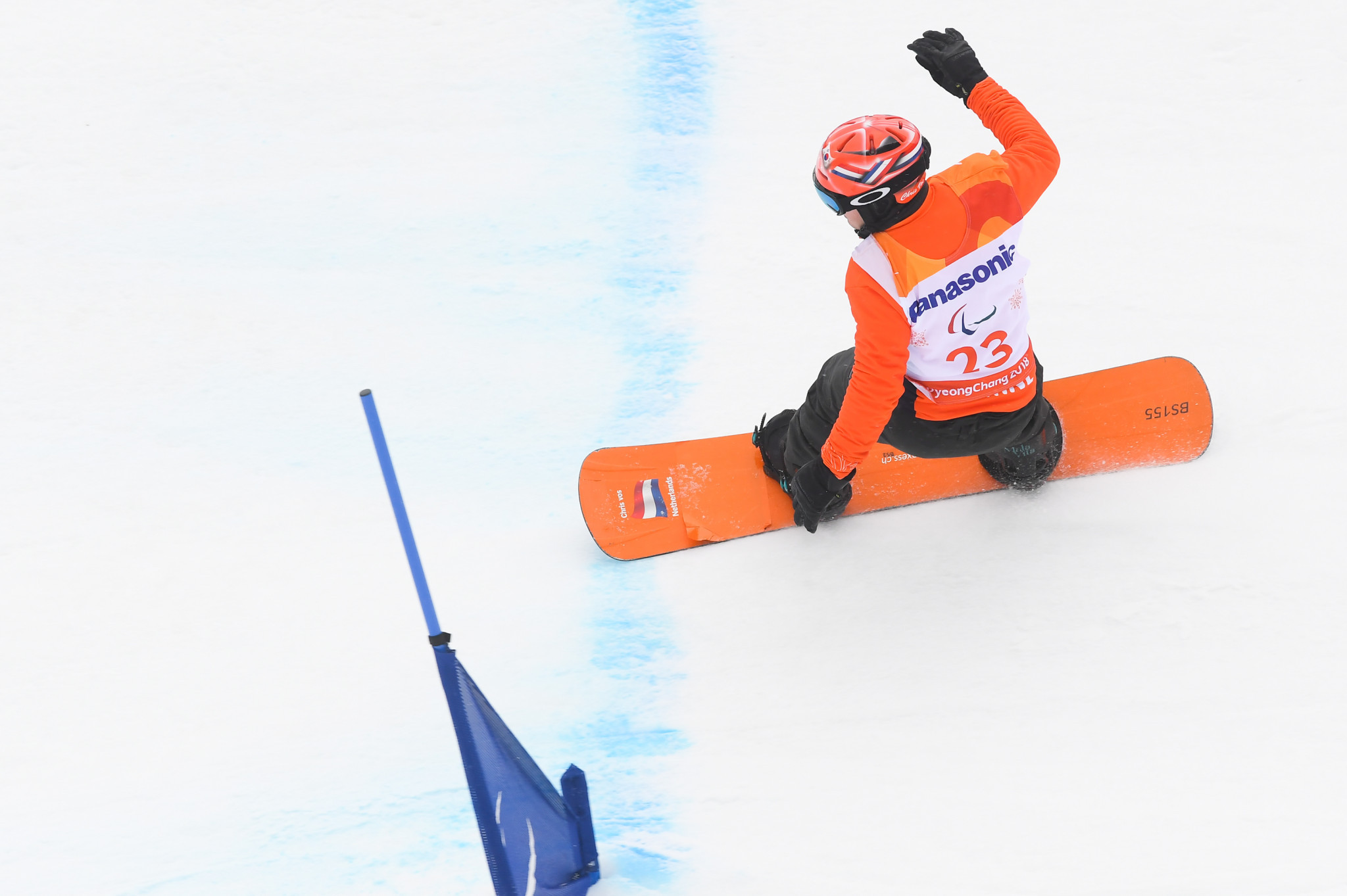 Vos victorious again at Para Snowboard World Cup in Landgraaf