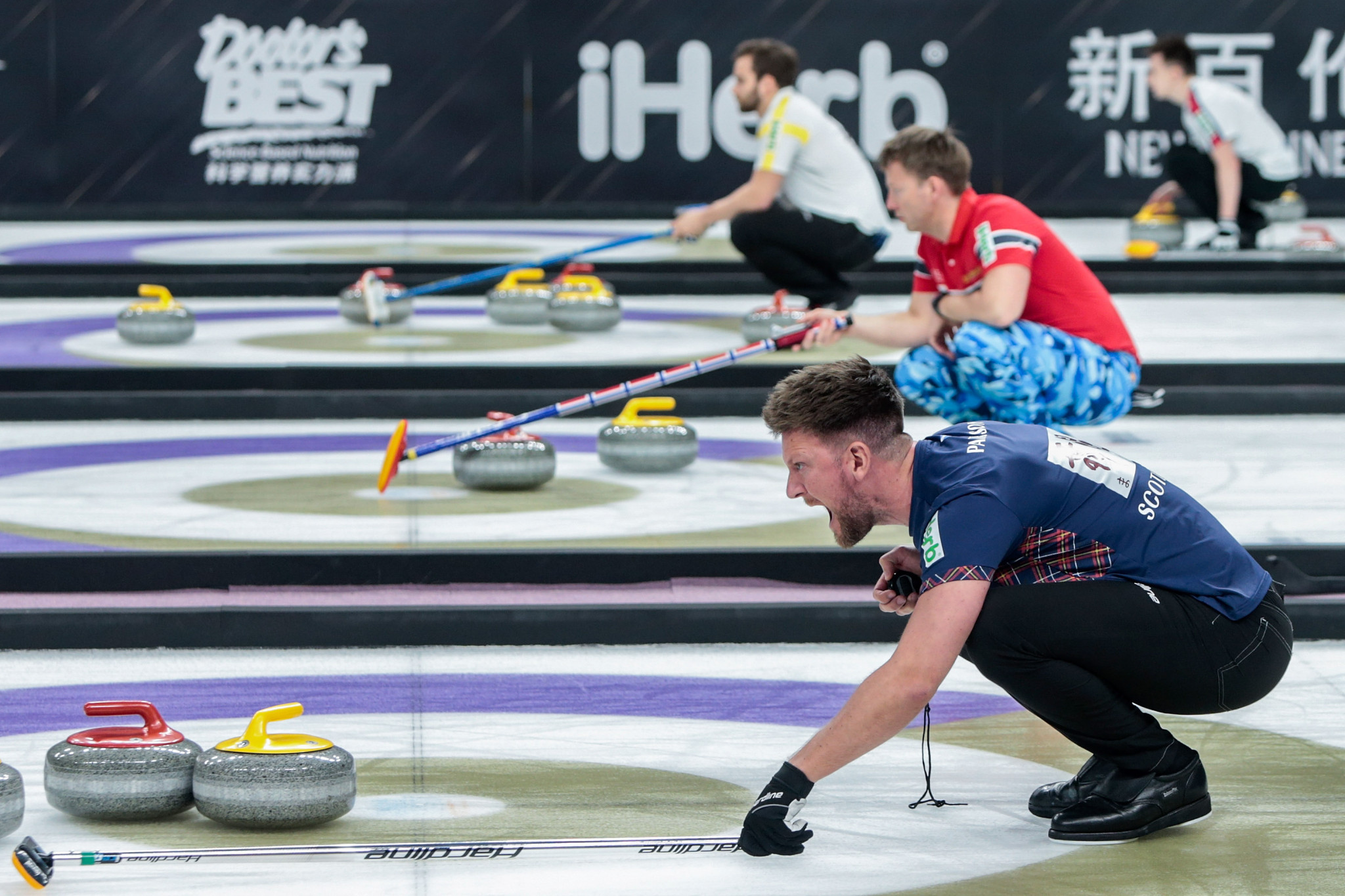 Scotland claim opening wins as European Curling Championship defence begins
