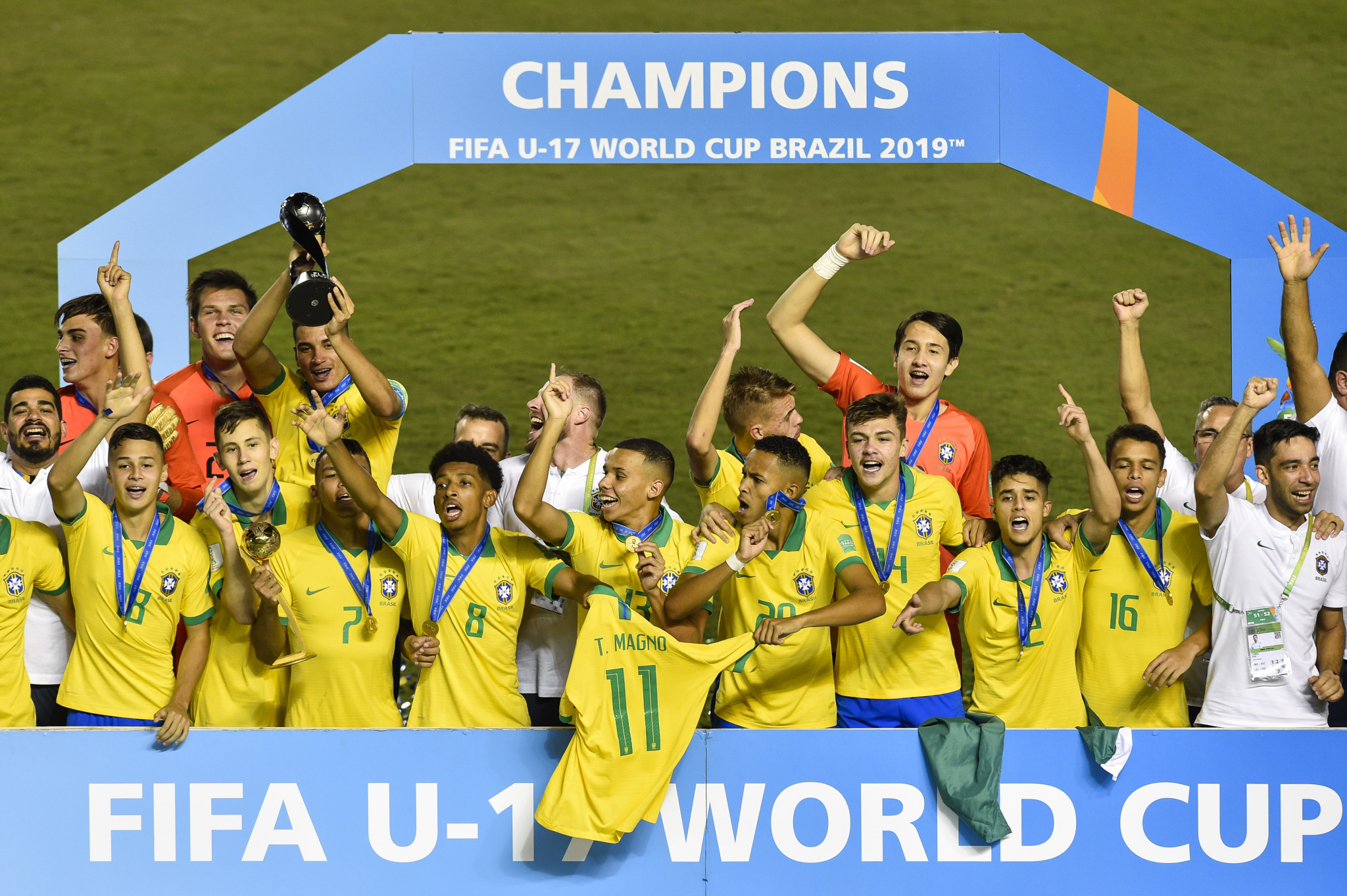 Hosts Brazil strike late to win FIFA Under-17 World Cup for fourth time