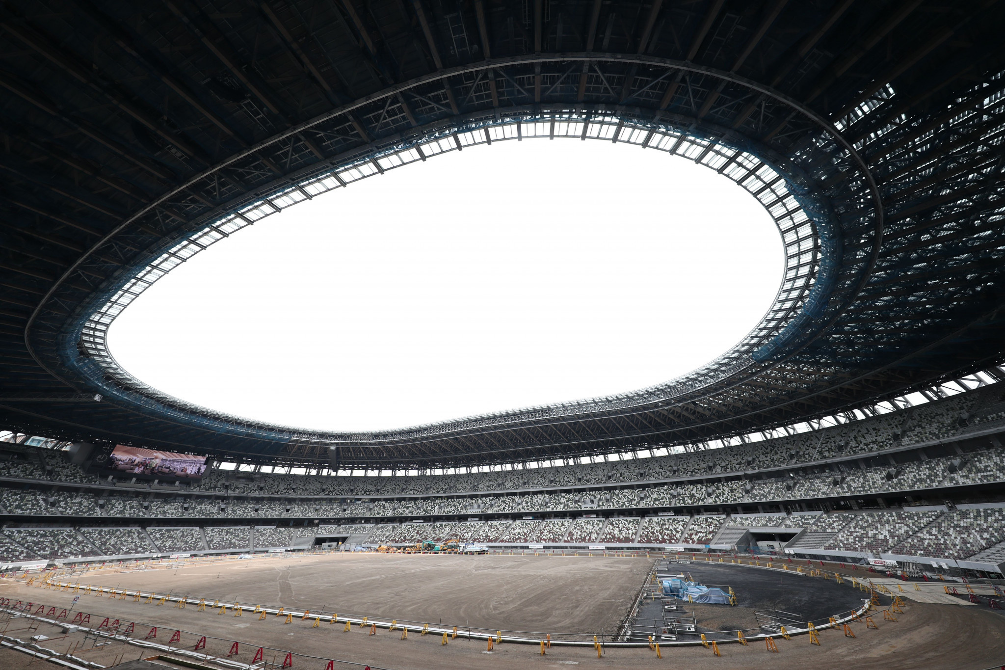 Work on the new National Stadium was delayed after the original plan was scrapped following an outcry over the cost of the design by Iraqi-British architect Zaha Hadid ©Getty Images