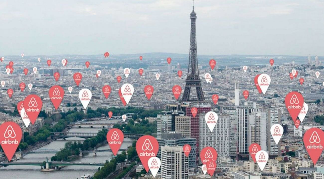 Airbnb is being blamed for pushing up rents in many European cities, including Paris ©Twitter