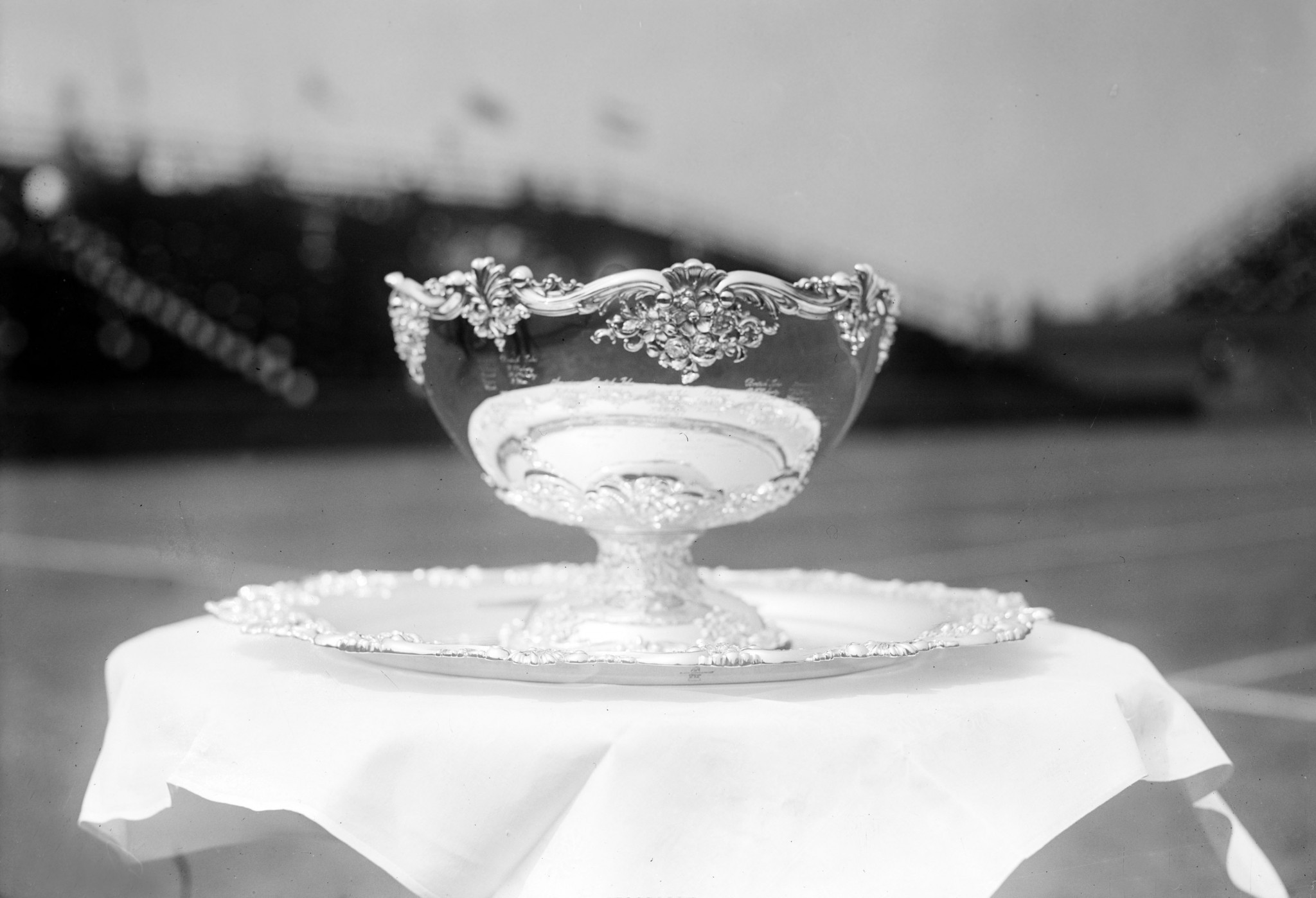 The first-ever version of the Davis Cup trophy ©Getty Images