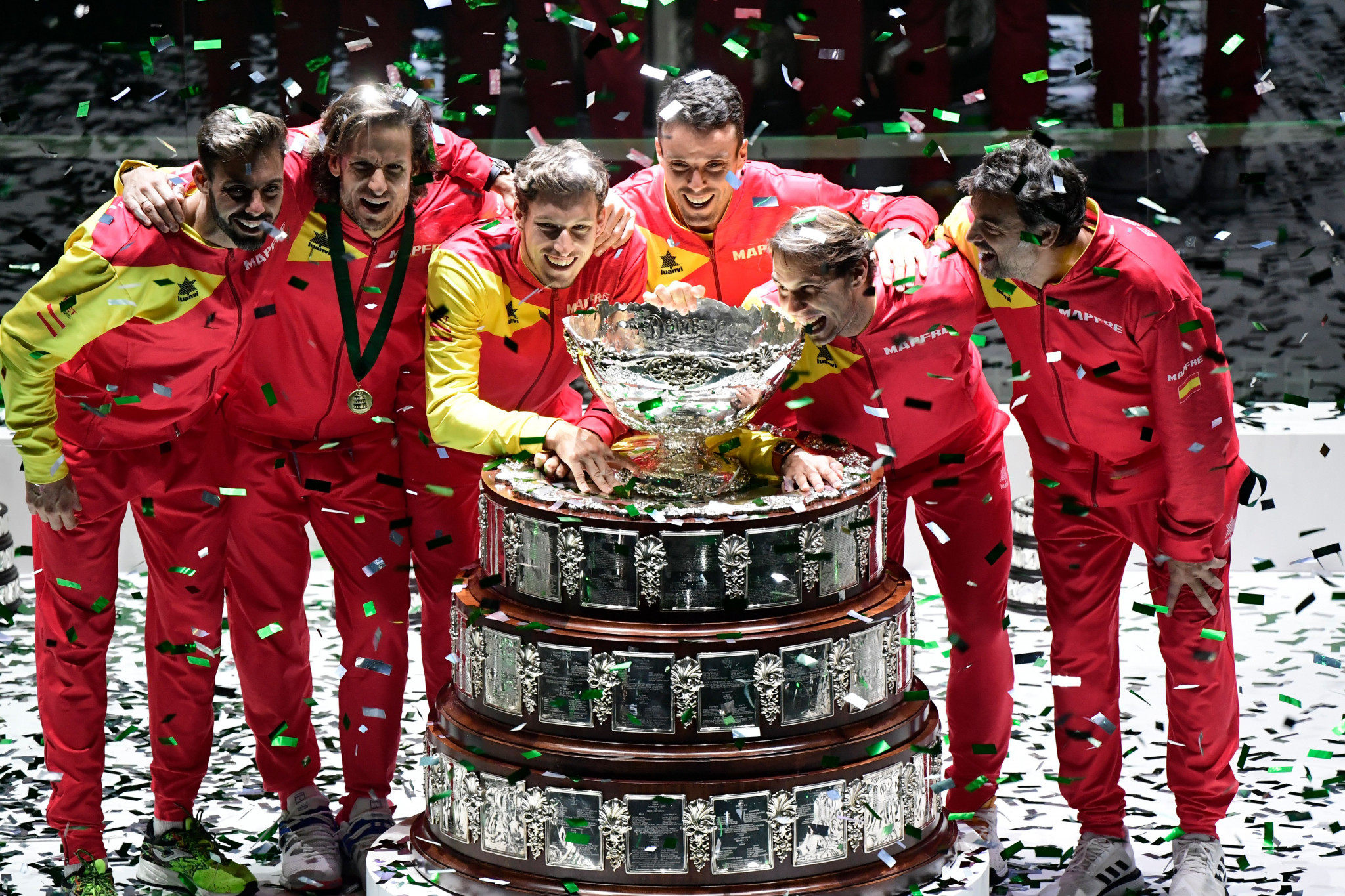 Spain won the Davis Cup for the sixth time in Madrid today ©Getty Images