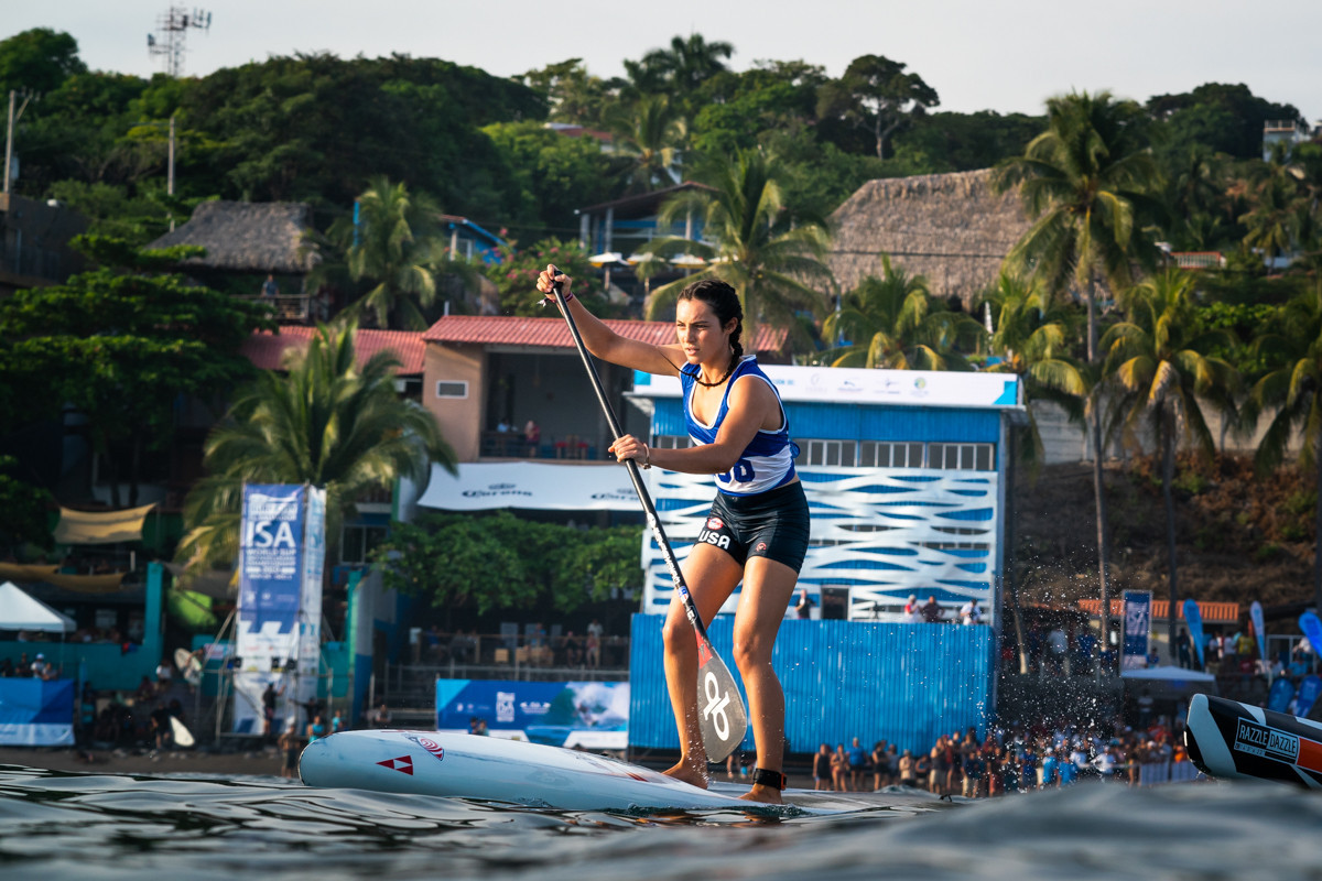 Howson breezes into SUP technical final as she makes amends for American errors in El Salvador
