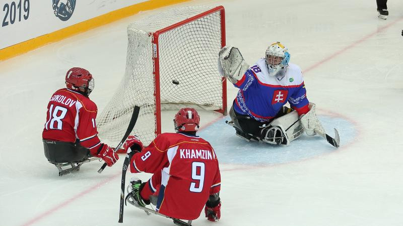Russia and Slovakia finished first and second at this month's B-Pool competition in Berlin ©World Para Ice Hockey