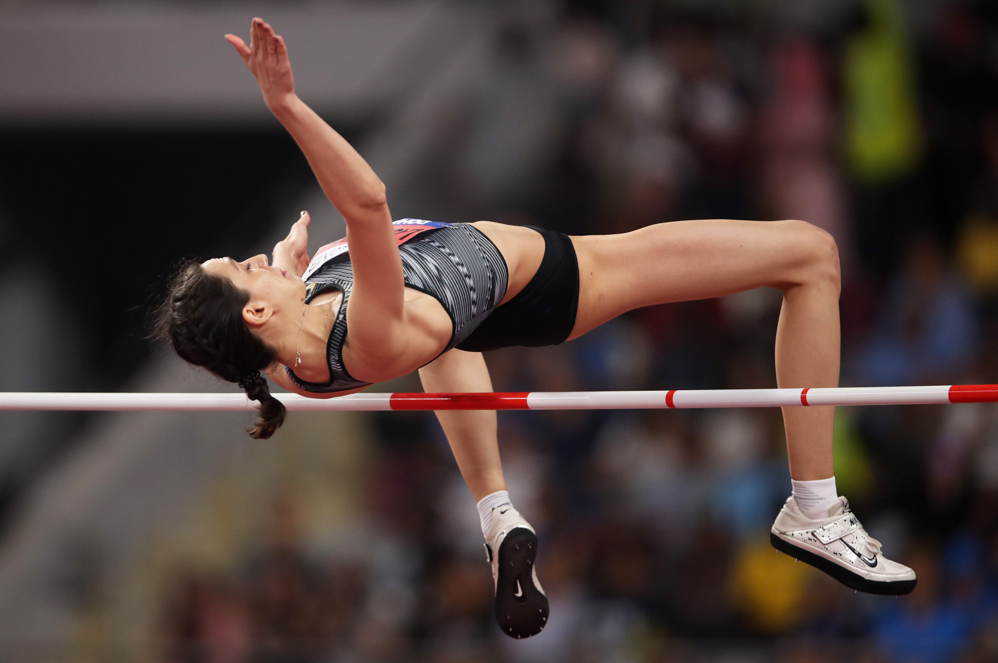 Russian high jumper Mariya Lasitskene once again finds her career on hold because of the Russian doping crisis ©Getty Images