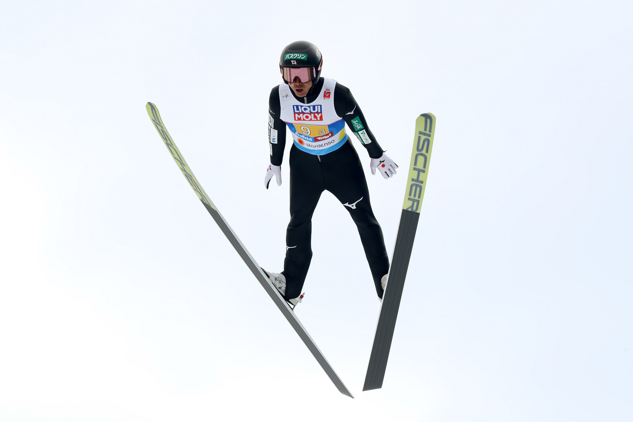 Japan's Akito Watabe won the last Ruka Triple with a fractured rib ©Getty Images